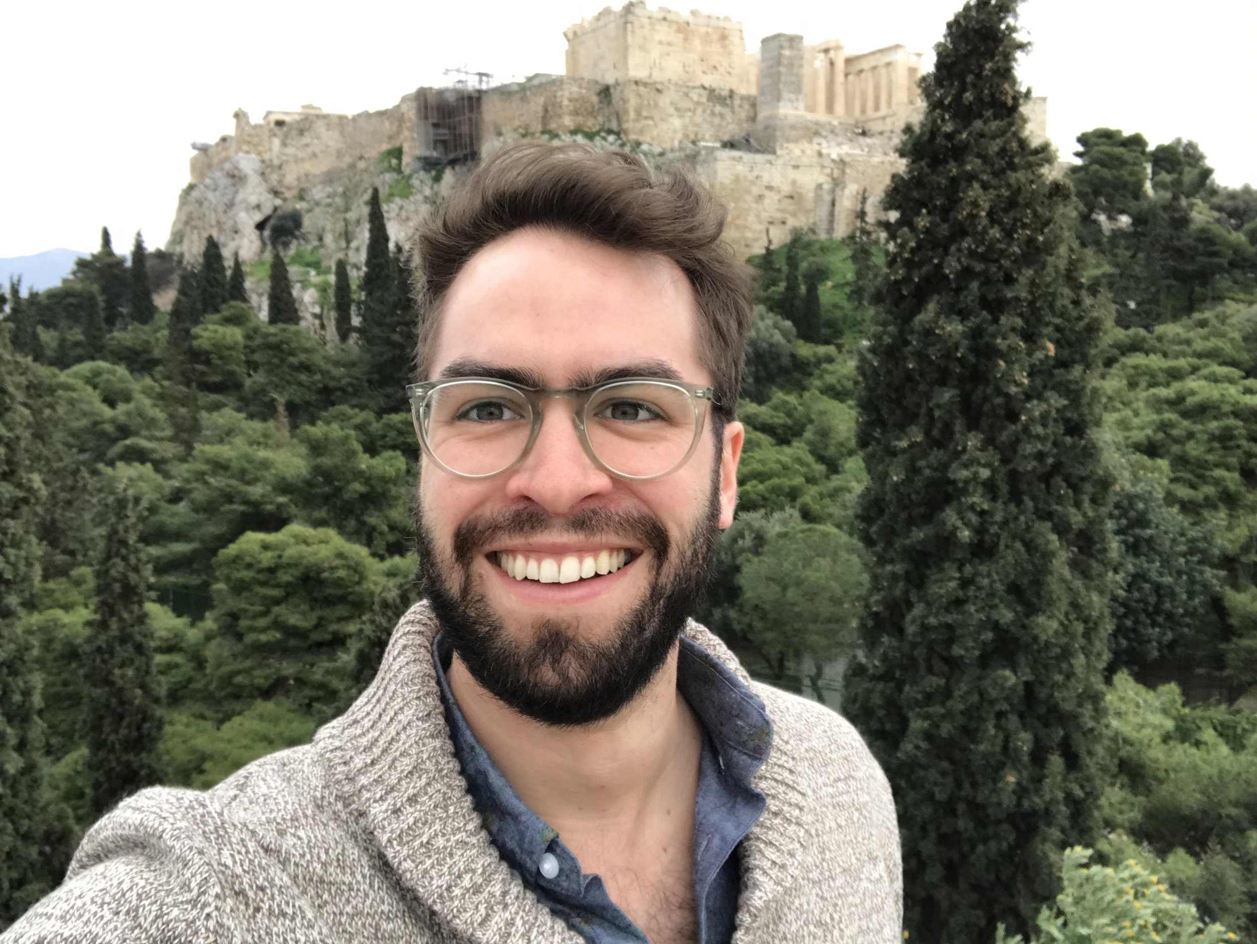 In 2019, on the Areopagus, still figuring out selfies