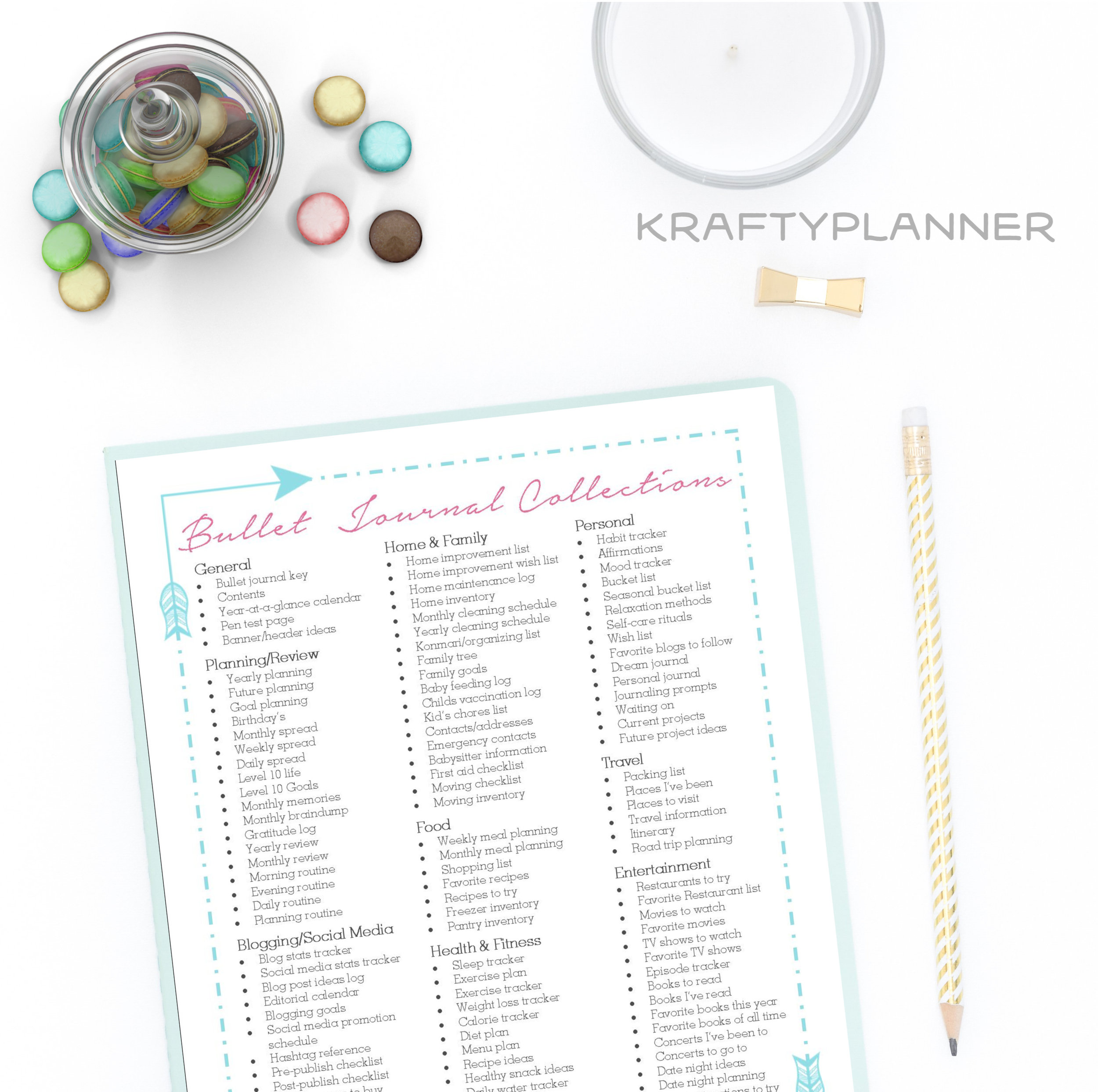 Throwback Thursday: Bullet Journal Collections {Free Printable}