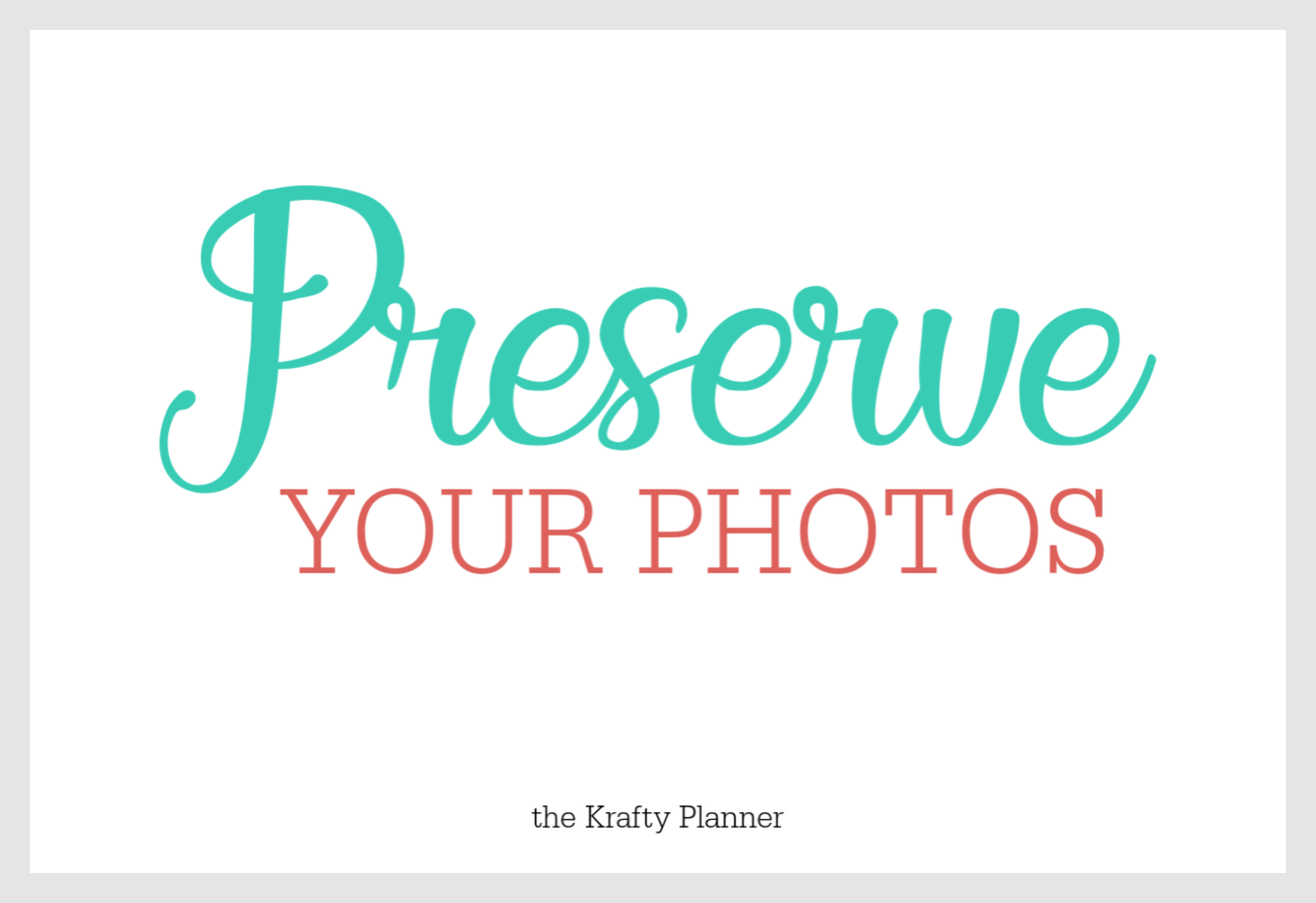 The Doors Are Open: Preserve Your Photos is Live