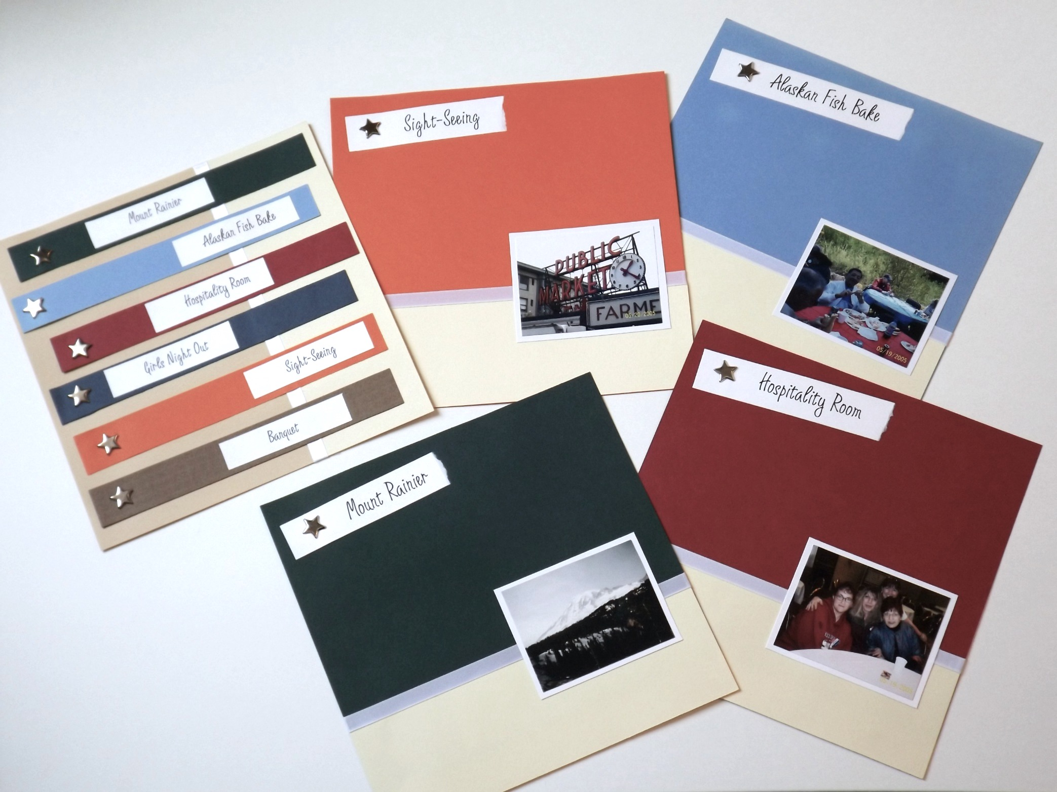 Seattle Scrapbook - title pages.JPG