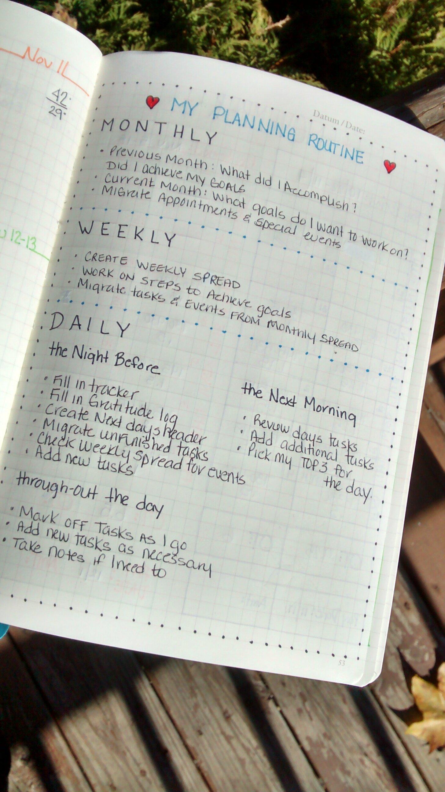 #TBT: My Planning Routine