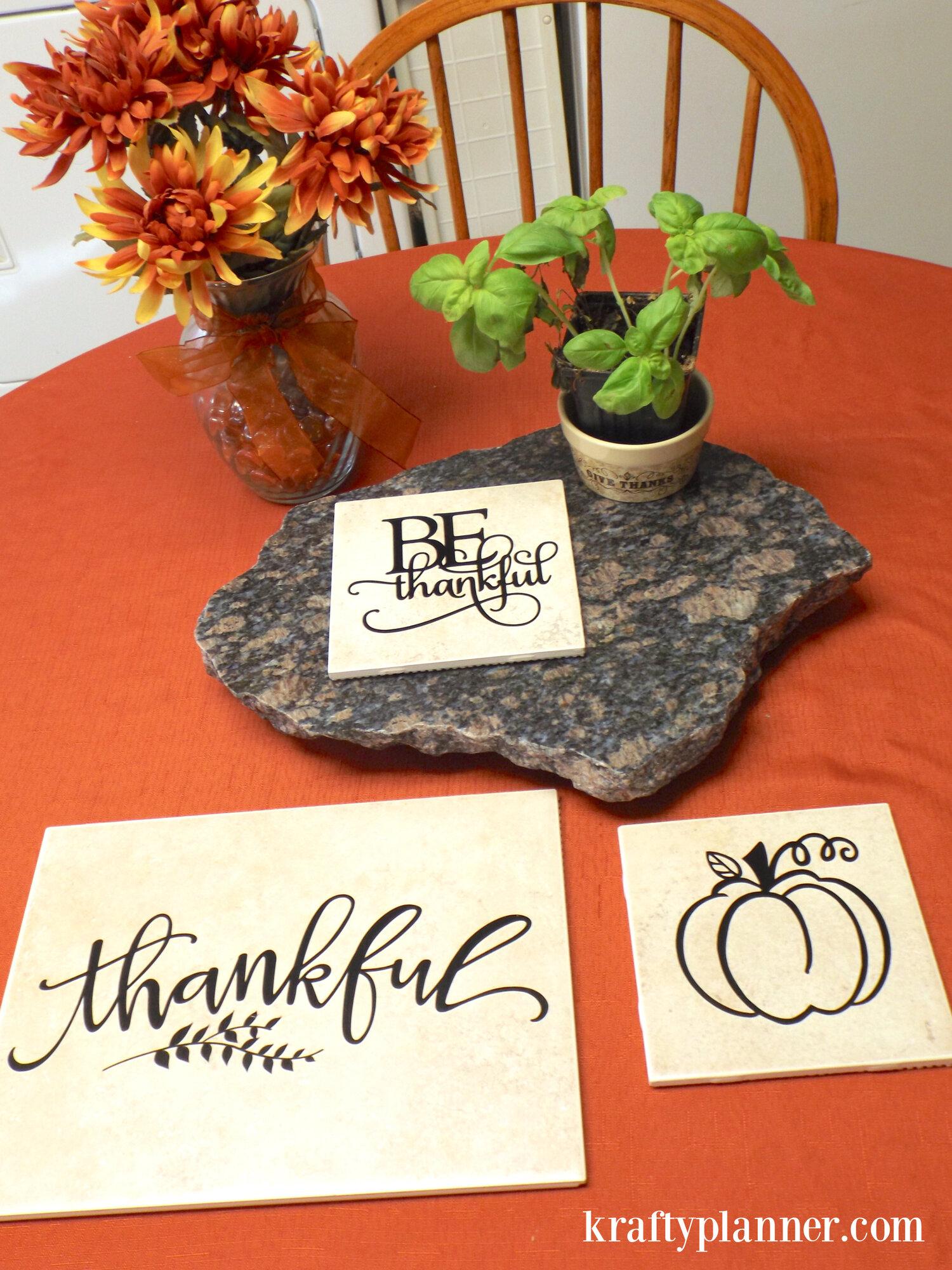 DIY Thankful Trivets