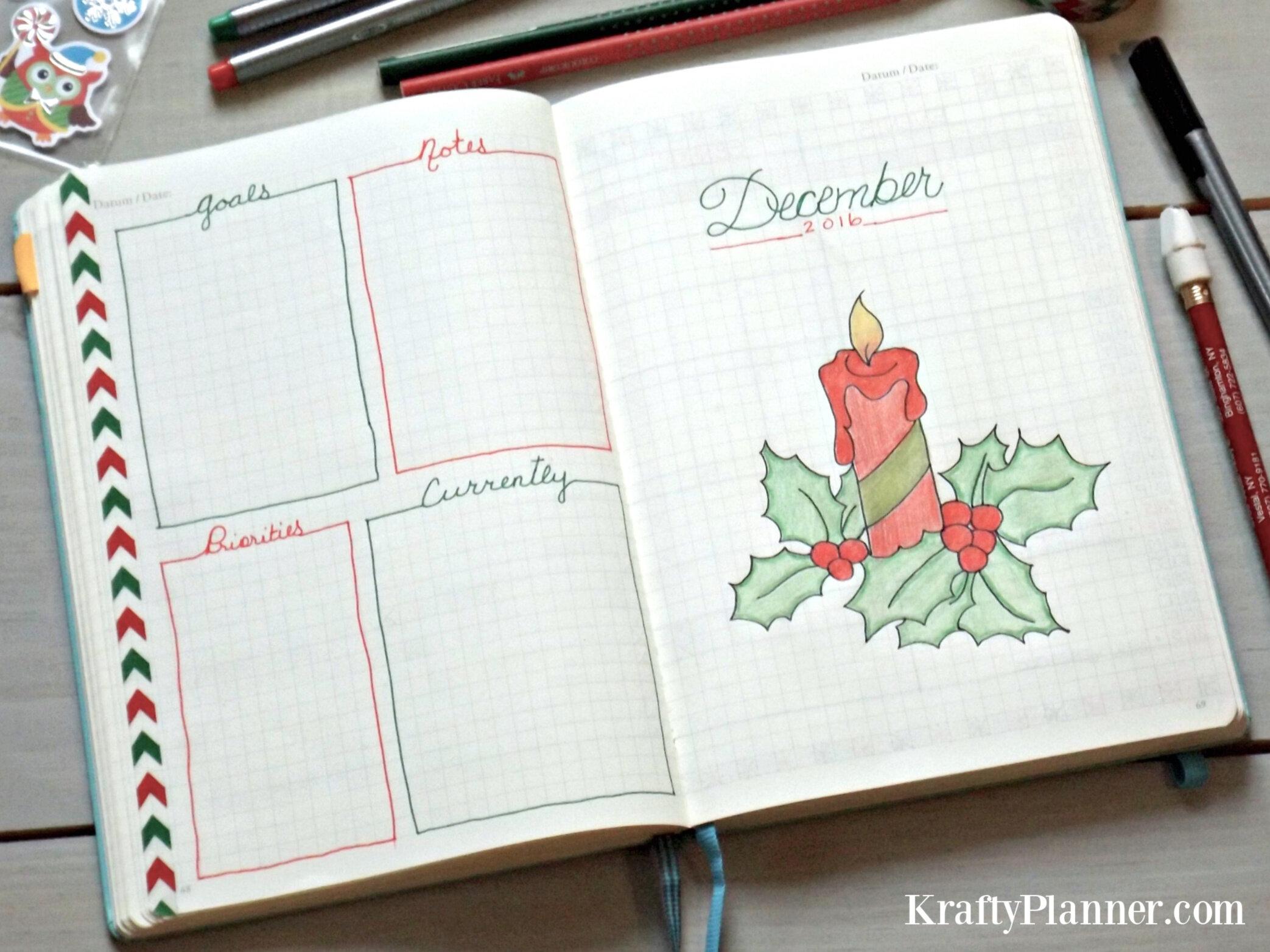 Christmas Planning in my Bullet Journal Throwback 2016.      .jpg