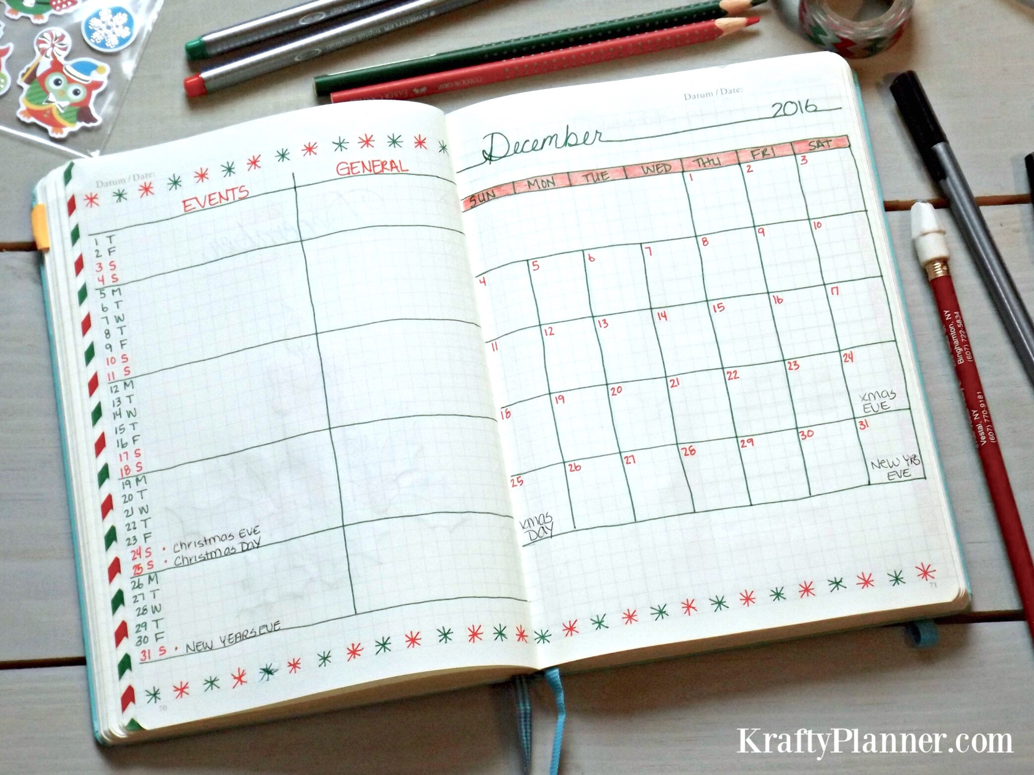 Christmas Planning in my Bullet Journal Throwback 2016  .jpg