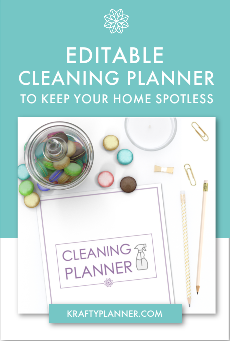 Editable Cleaning Planner to Help Keep Your Home Spotless PIN 1.png