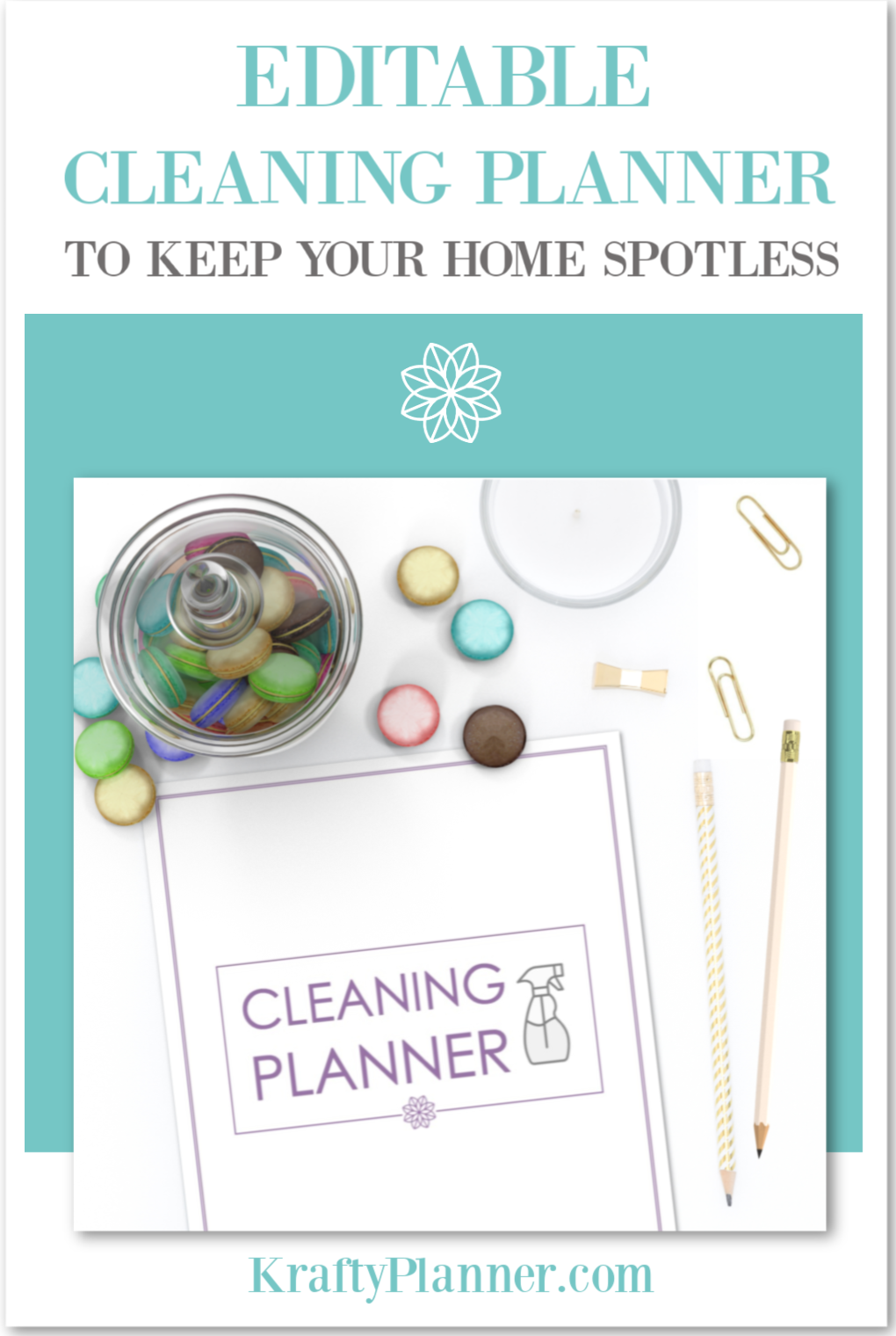 Editable Cleaning Planner to Help Keep Your Home Spotless PIN 3.png