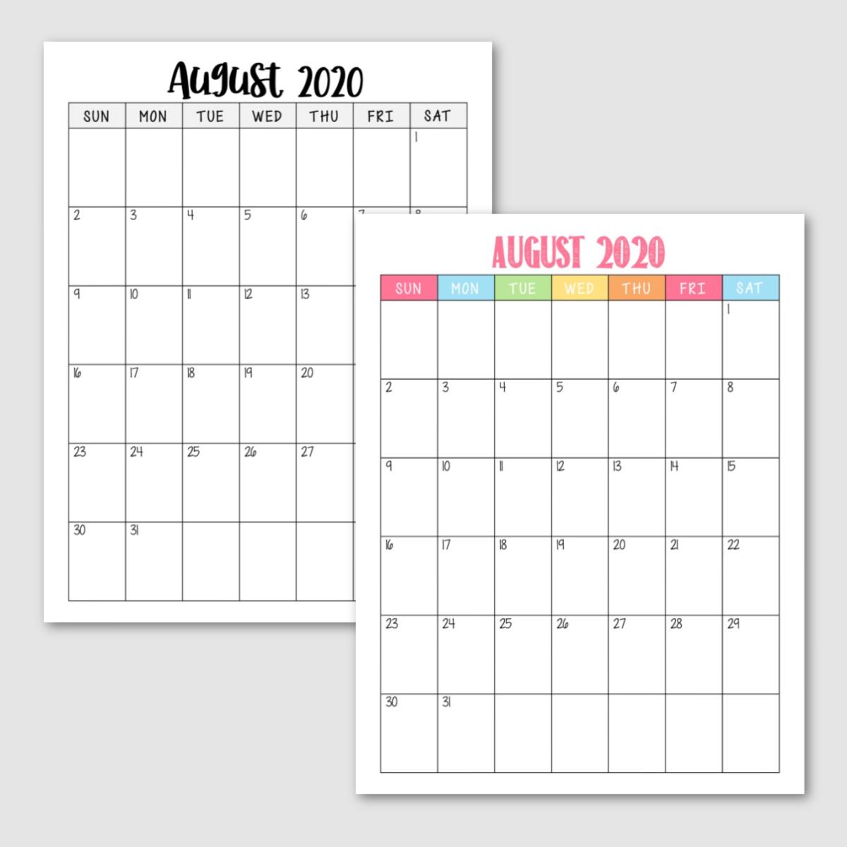 2020/2021 free calendar