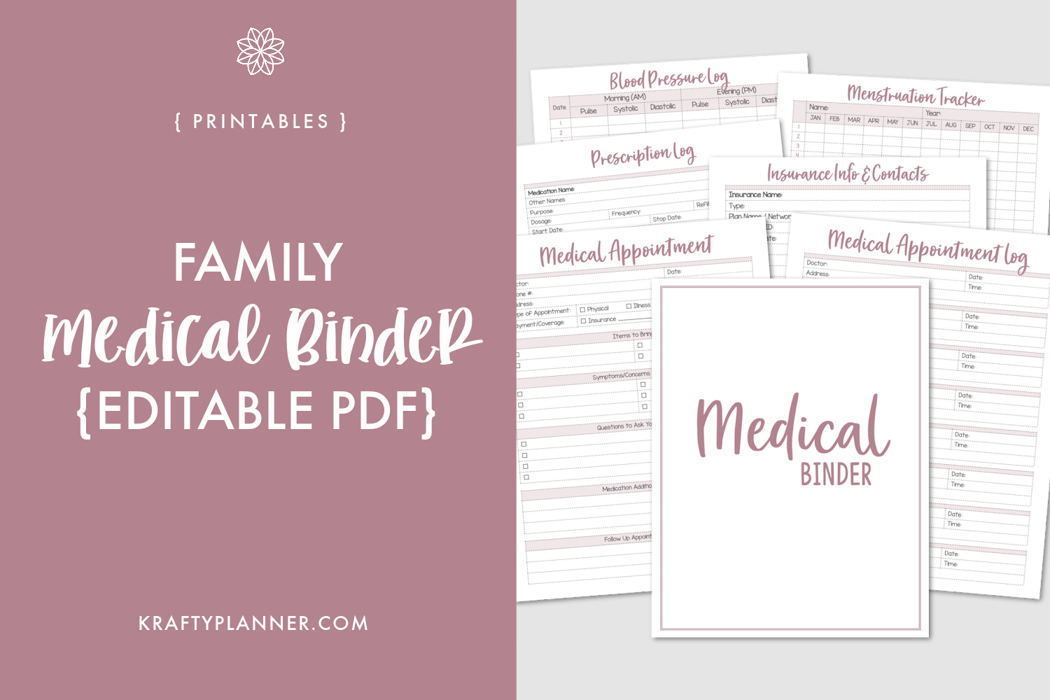 Family Medical Binder {Editable PDF} Main Image.png