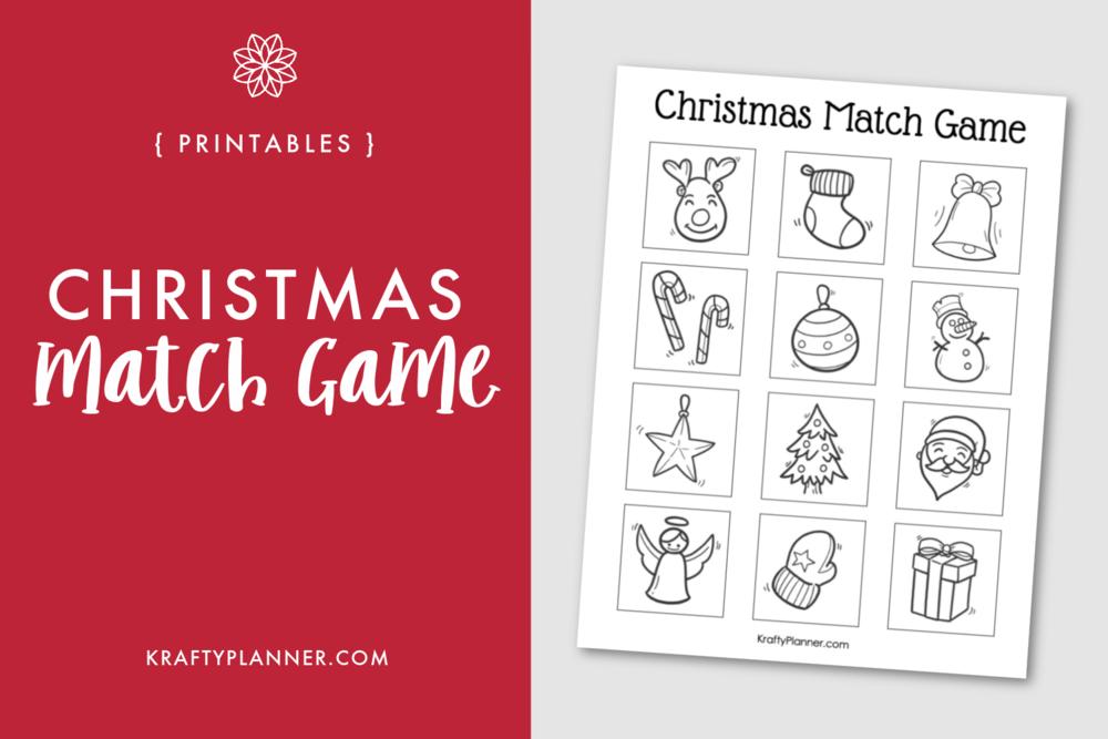 Free Printable Christmas Doodles Match Game