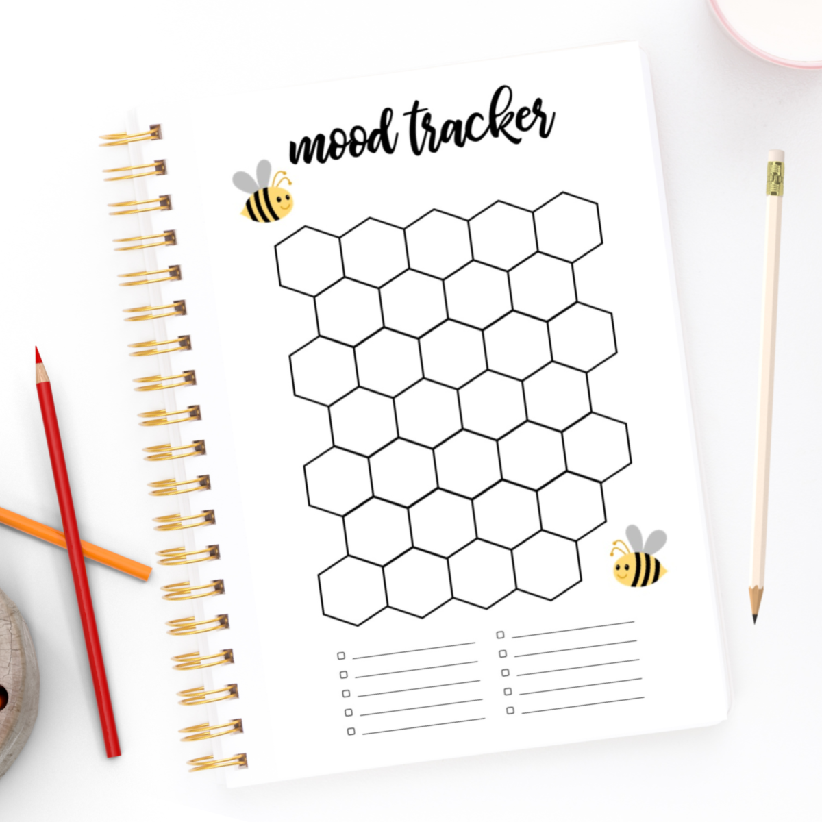 Spring Mood Tracker for your planner and bullet journal