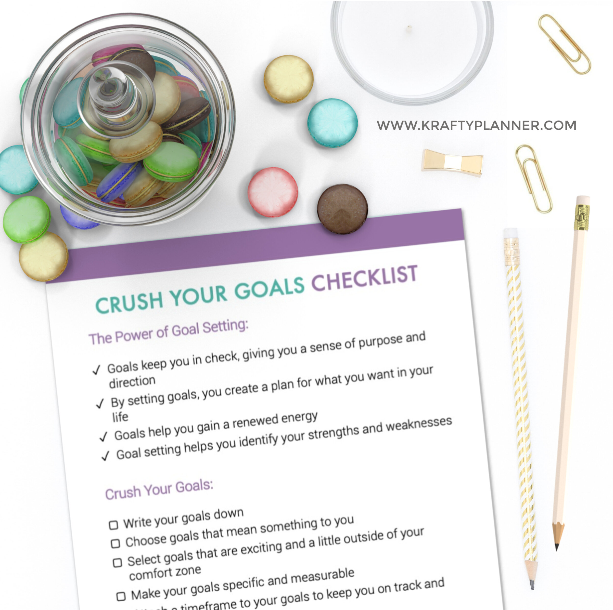 Crush Your Goals Free Printable Checklist