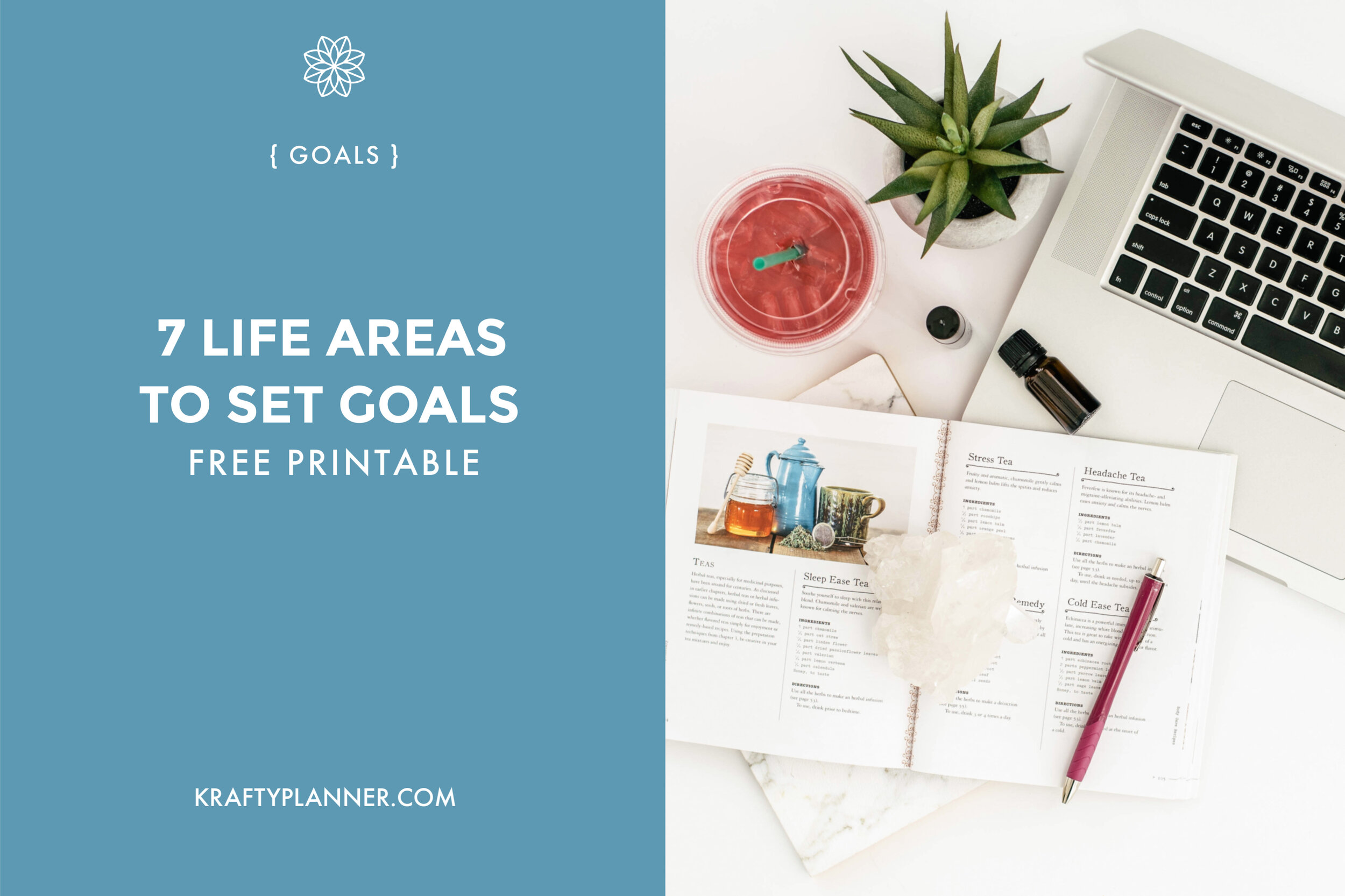 7 Life Areas to Set Goals {FREE Worksheet}
