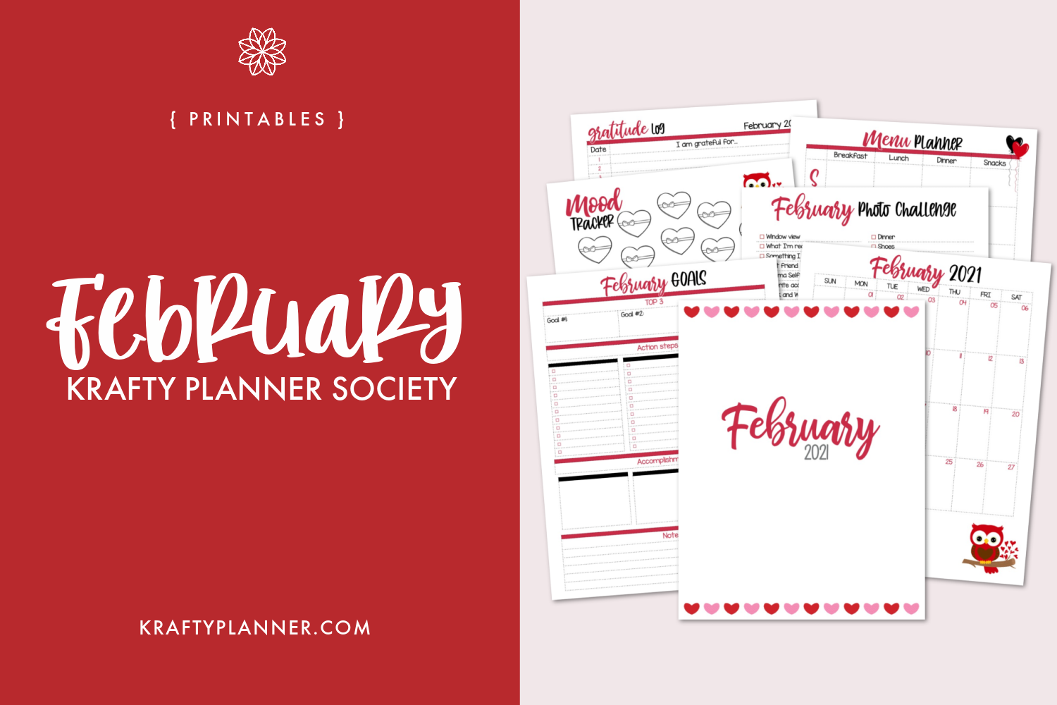 February 2021 Krafty Planner Society Main Image