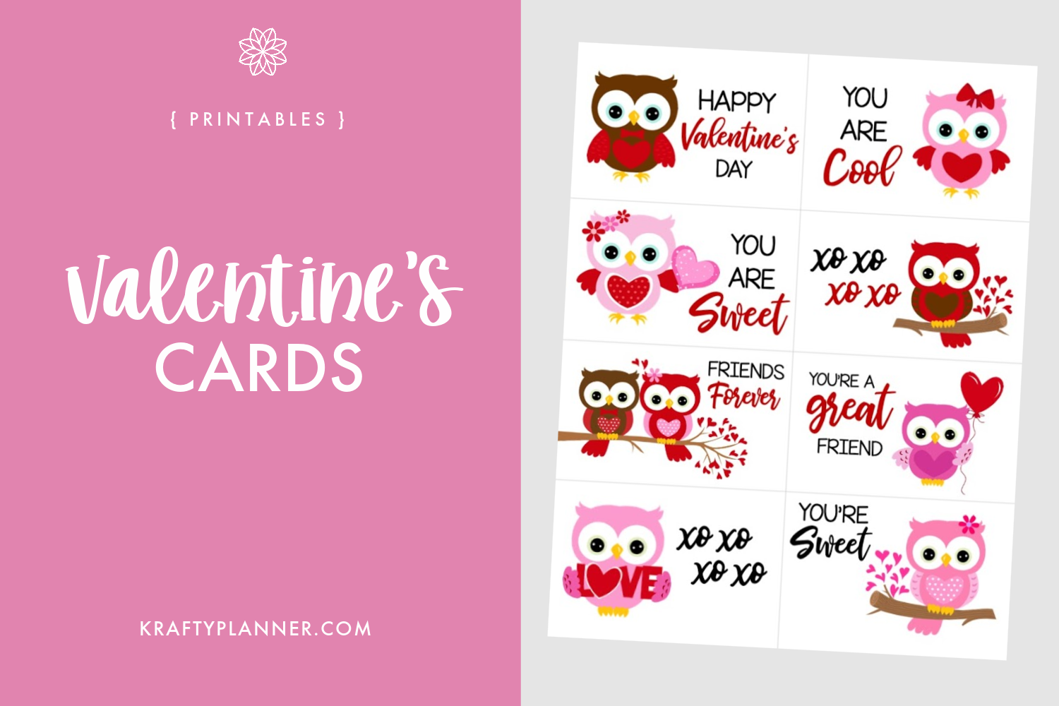 Owl Valentine's Day Cards Main Image.png