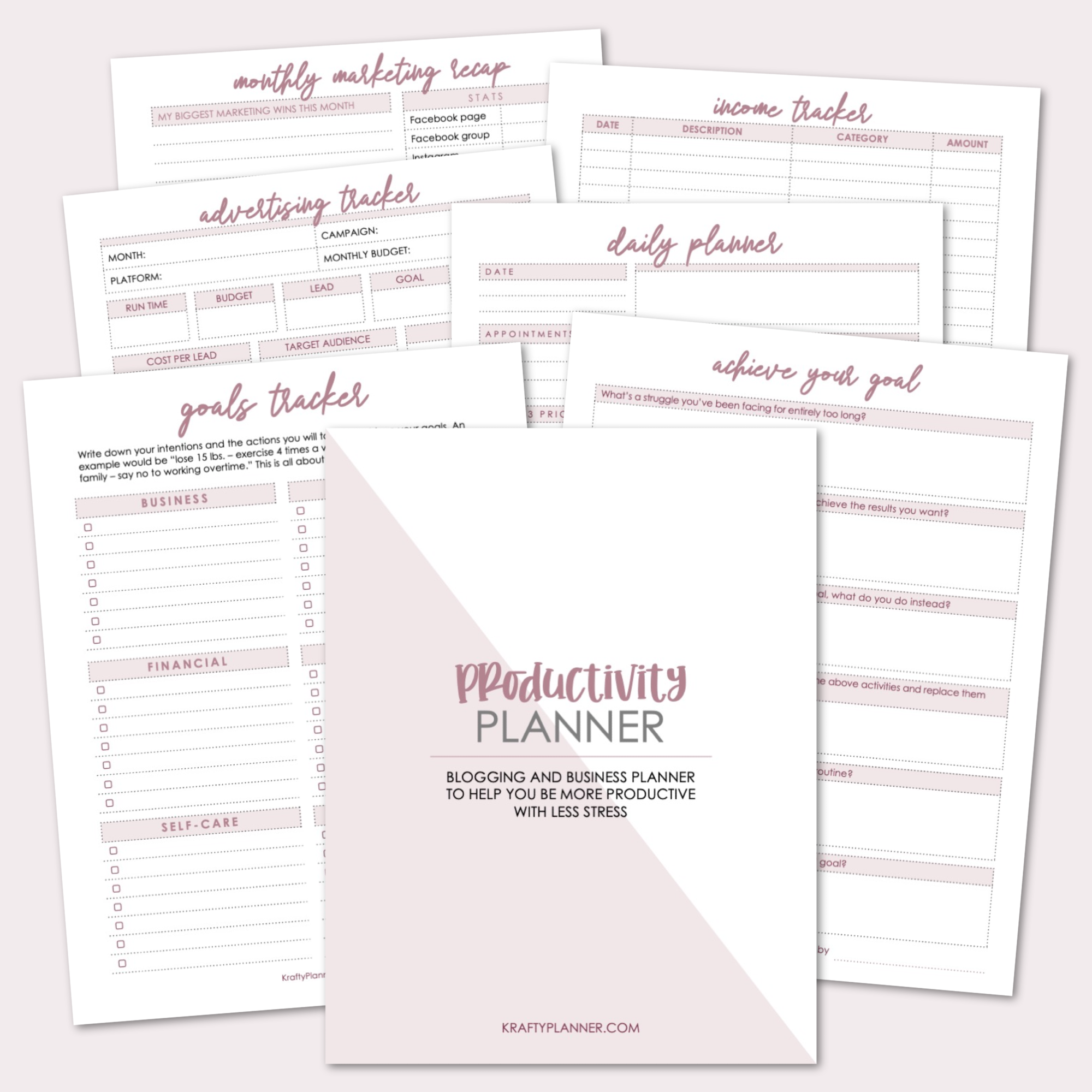 Productivity Planner - Blog and Business Planner