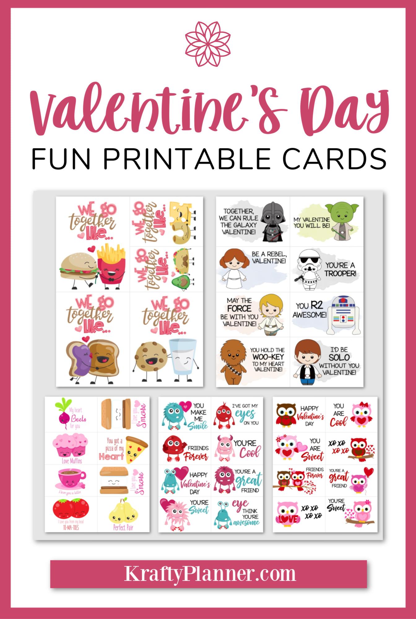 Valentine's Day Fun Printable Cards