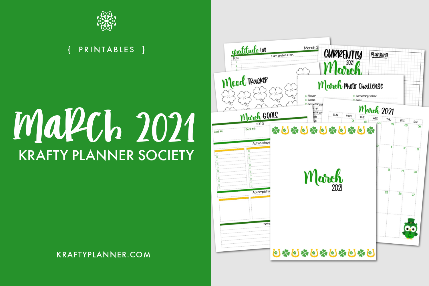 March Krafty Planner Society Printables.png