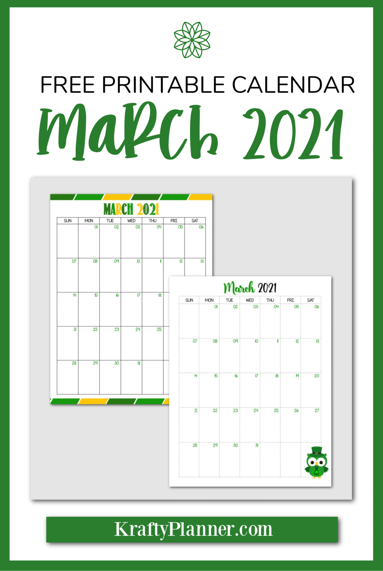 Free Printable March 2021 Calendar PIN 2.png