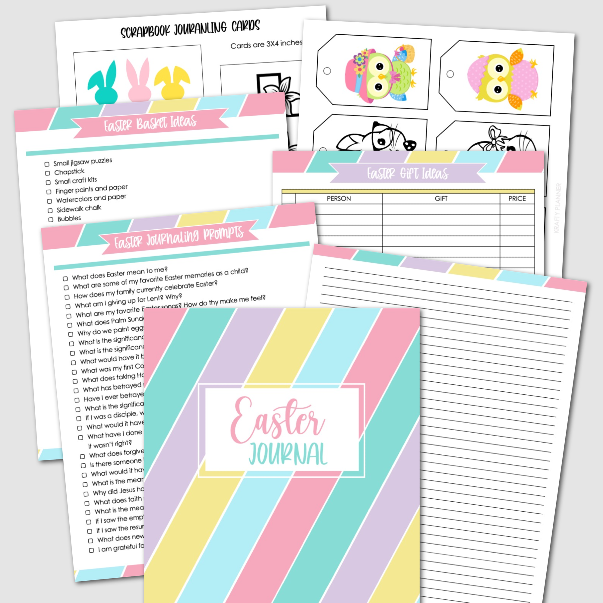 Easter binder. Gift ideas and planner. Easter journal..png