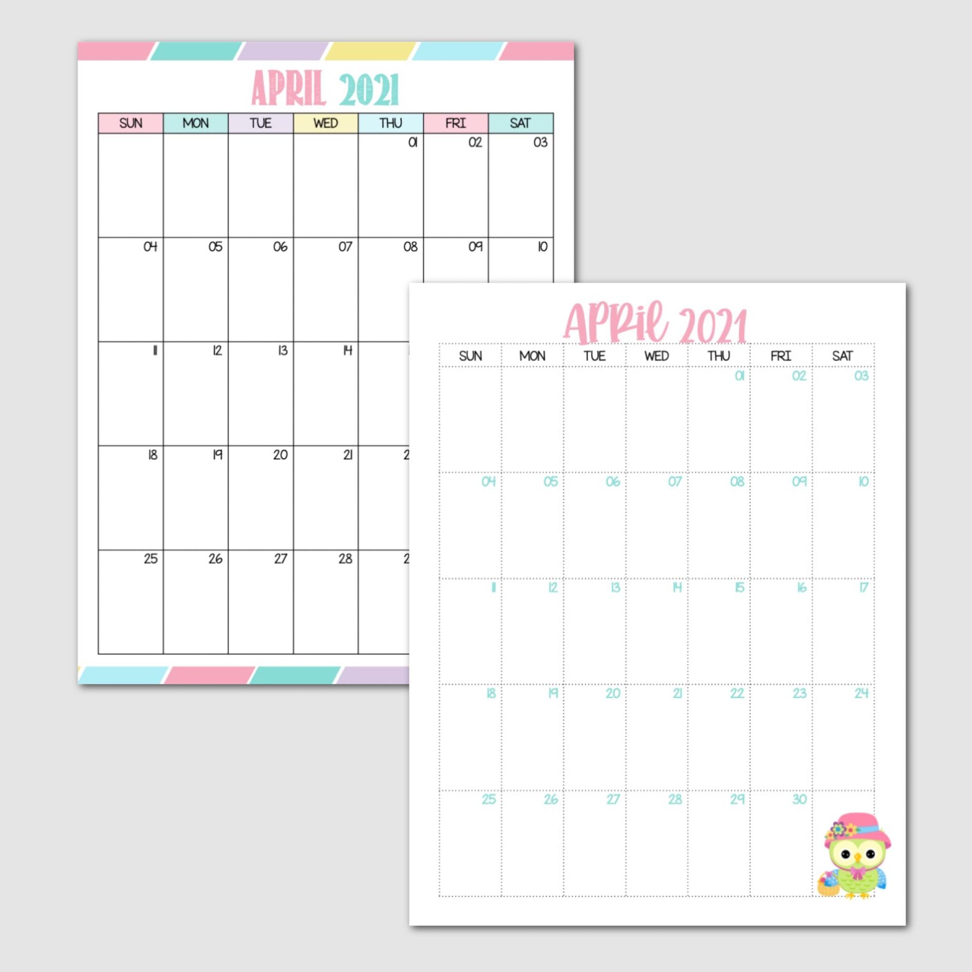 Free April Calendar Sunday Start.png