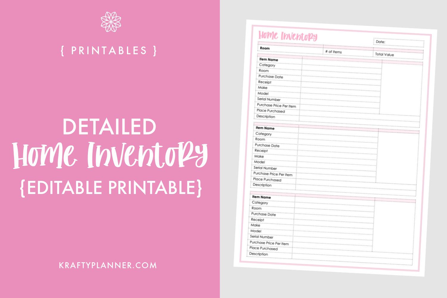 Detailed Home Inventory Add-On {Editable Printable} Main Image.png
