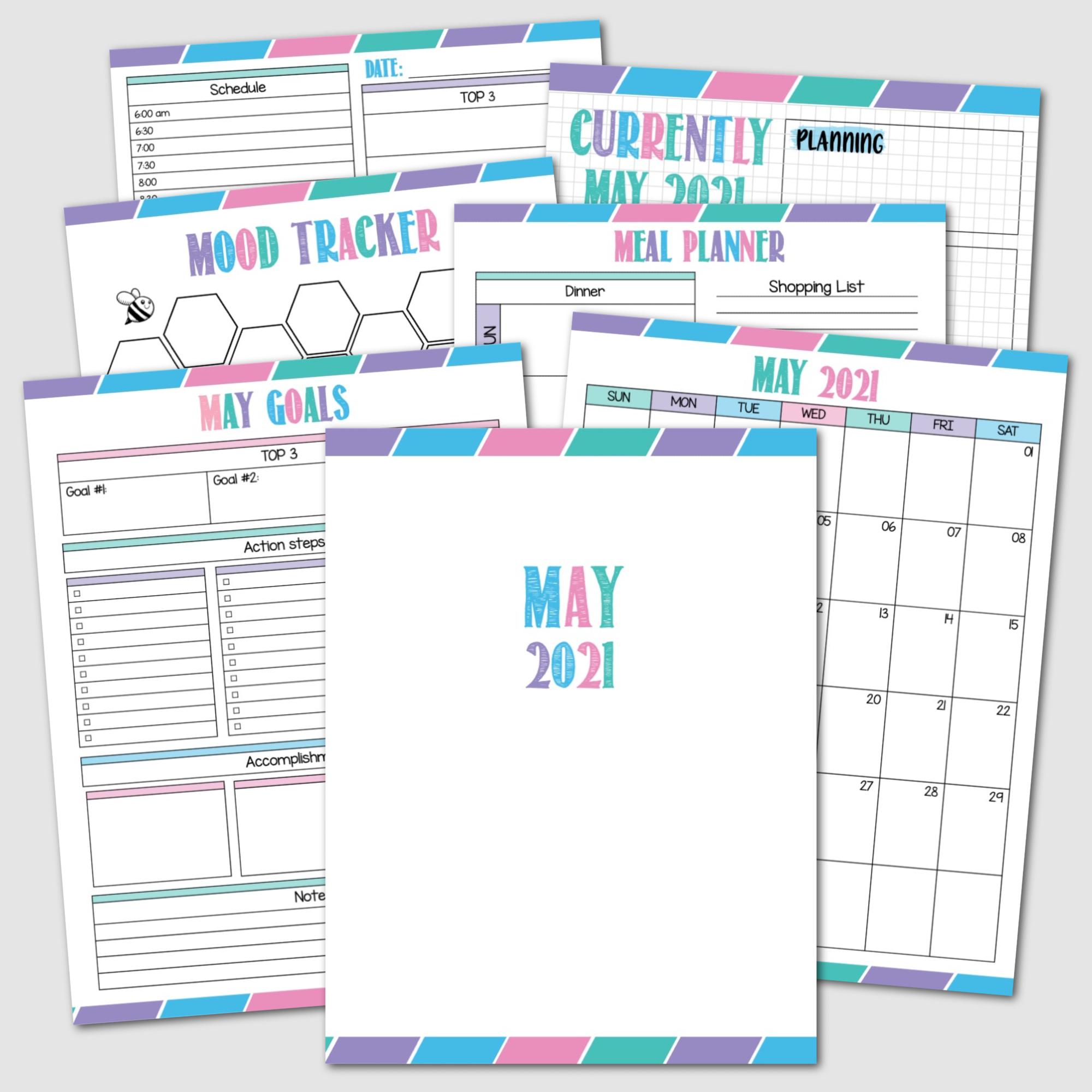 May 2021 Krafty Planner Society Rainbow Edition