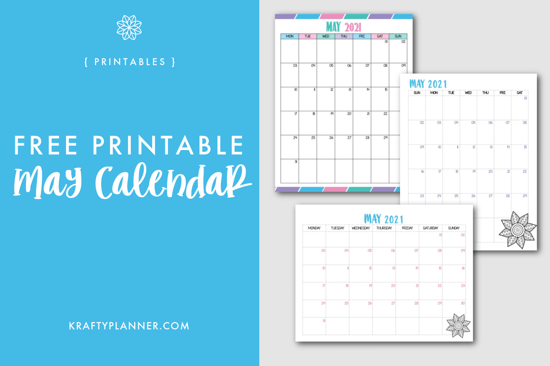 Free Printable May 2021 Calendar Main Image.png