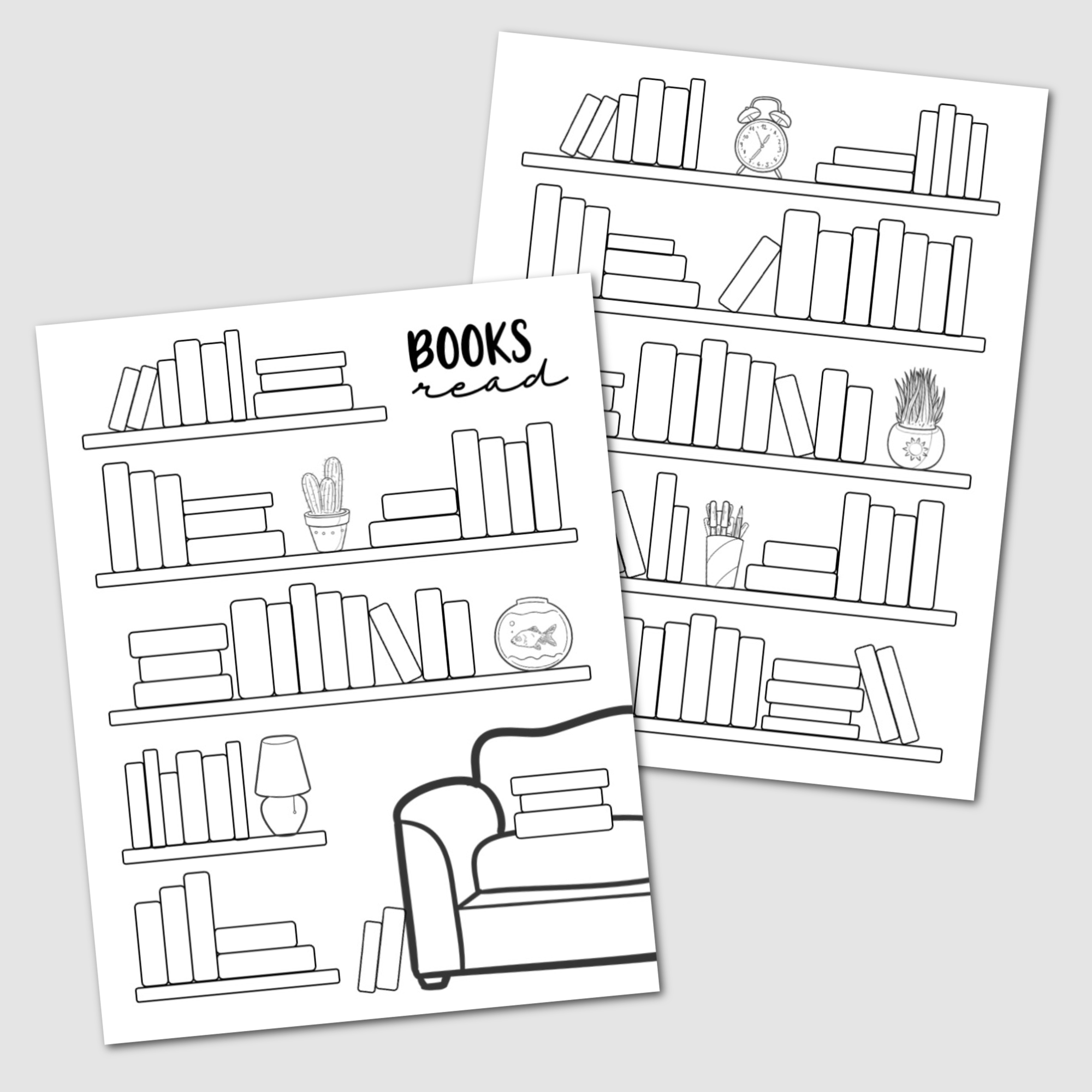 Books Read Printable Tracker - the Krafty Planner .png