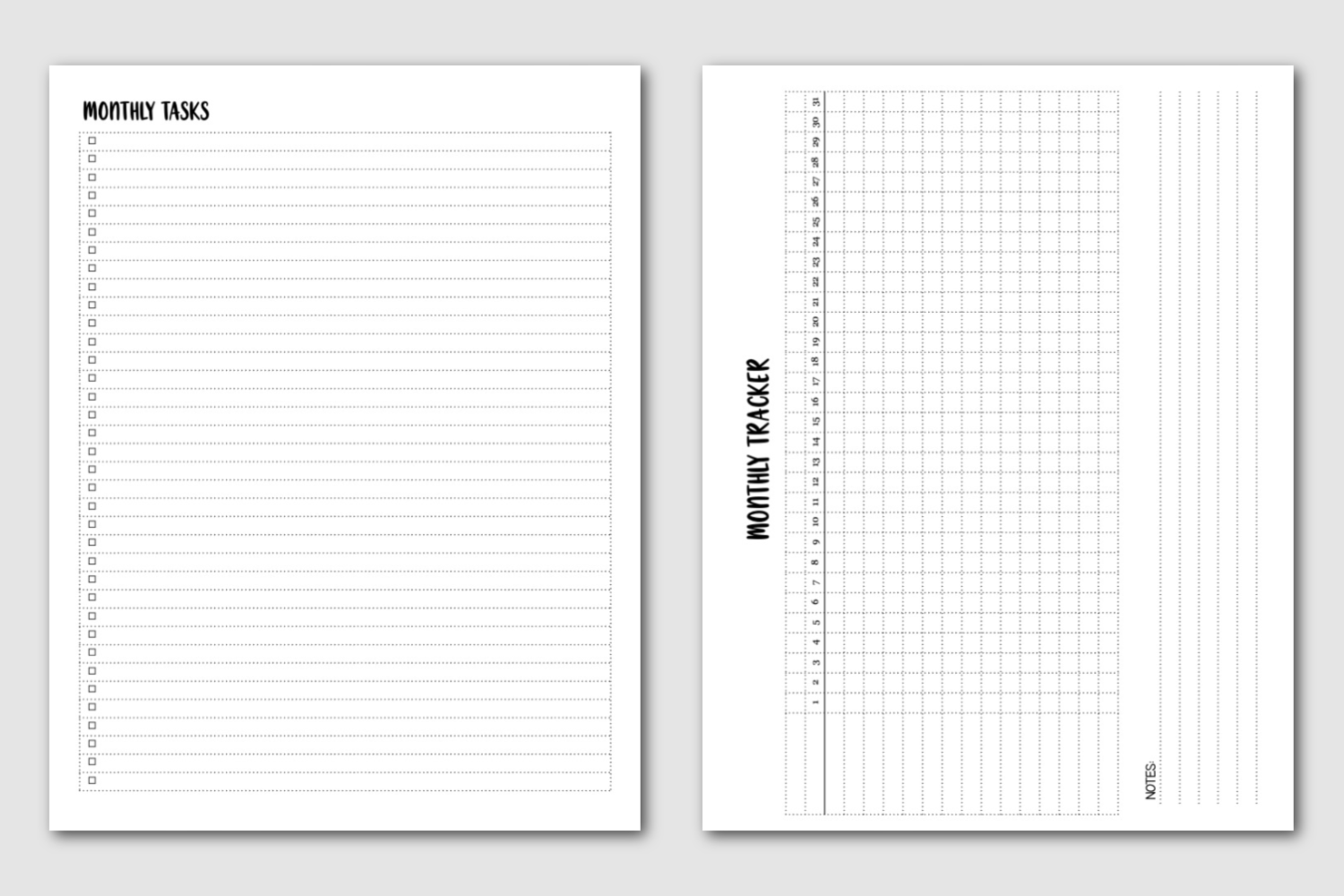 Monthly Tasks and Habits - Semi-Annual Master Planner