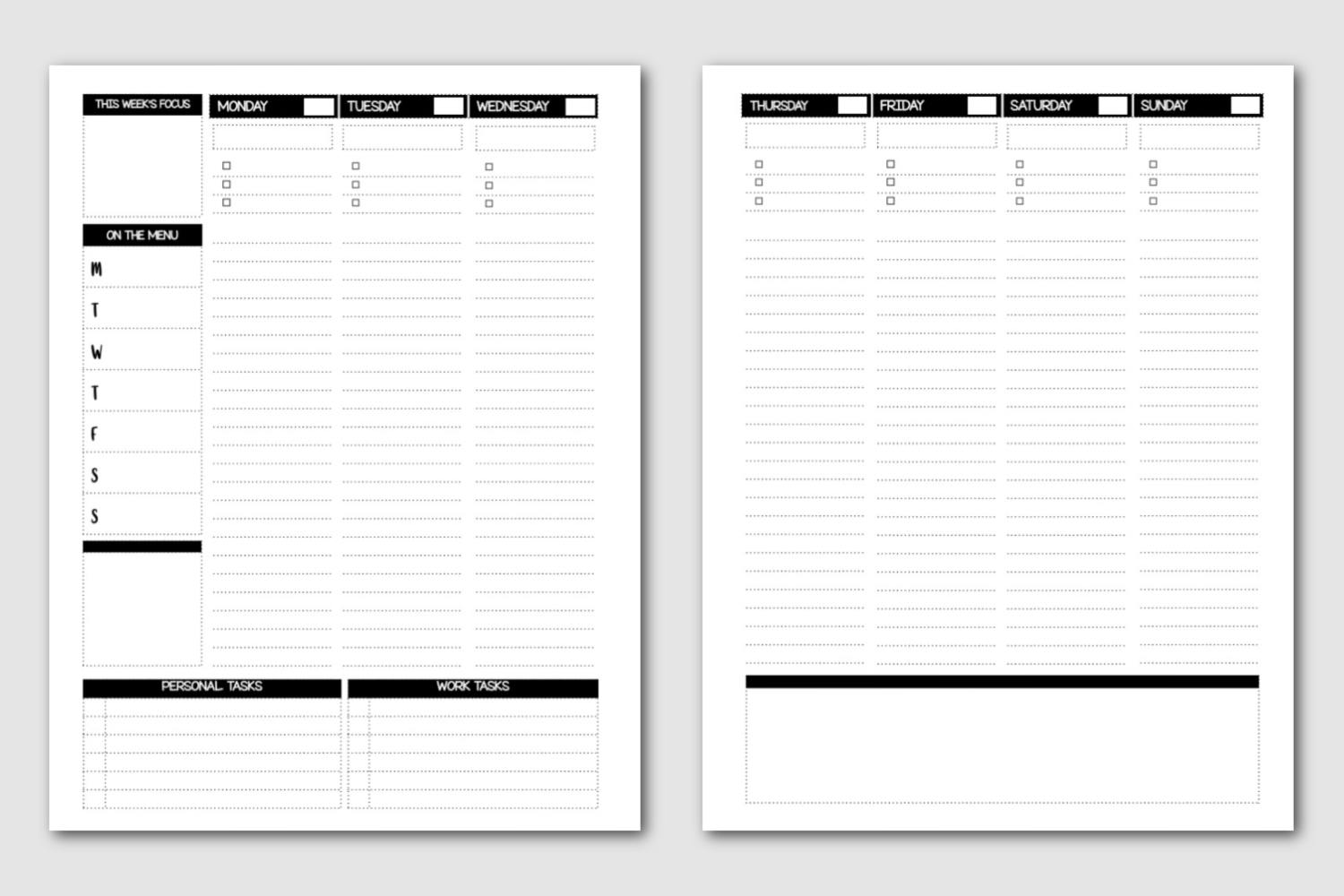 Weekly Planning Spread - Semi-Annual Master Planner