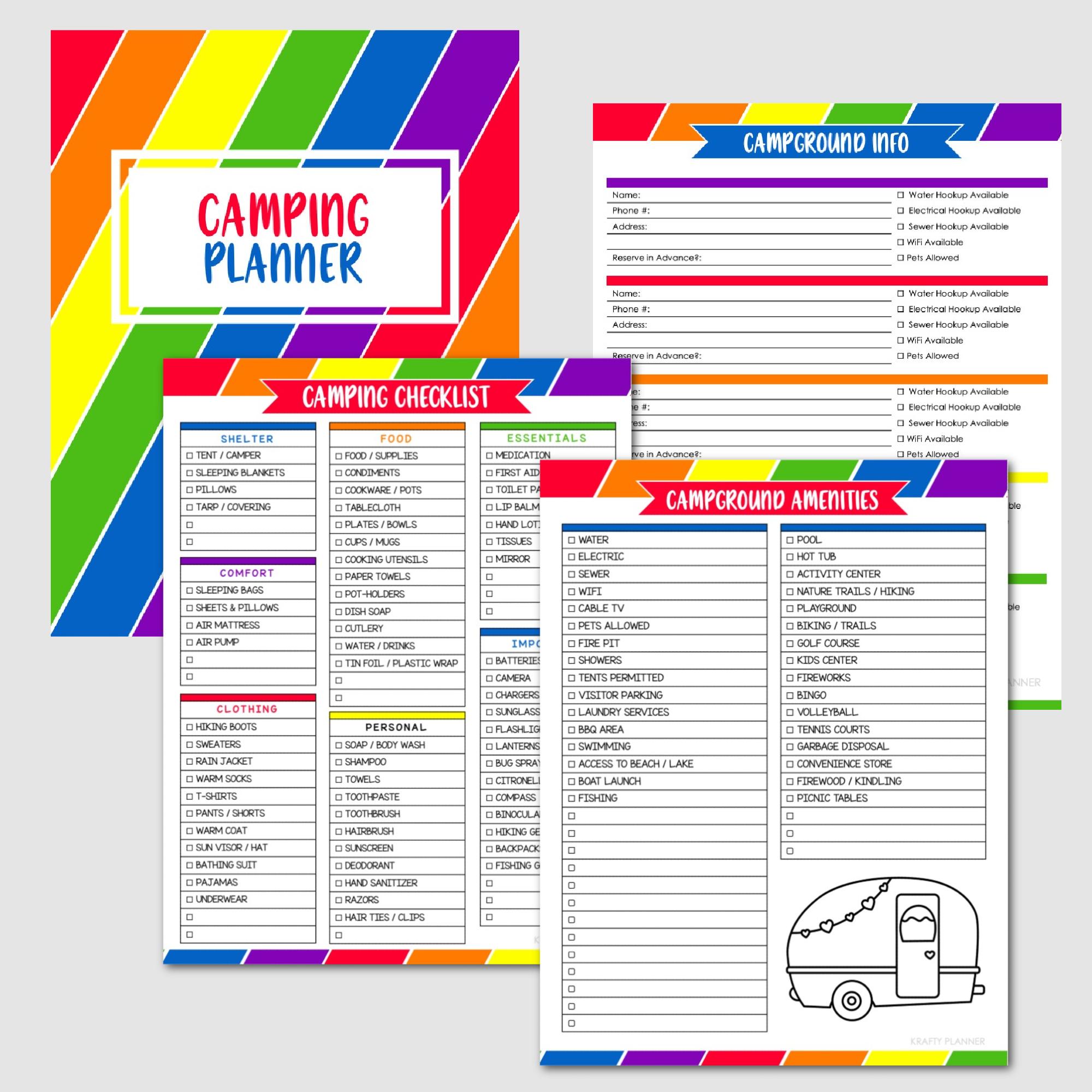 SUMMER FUN BINDER Camping Planner