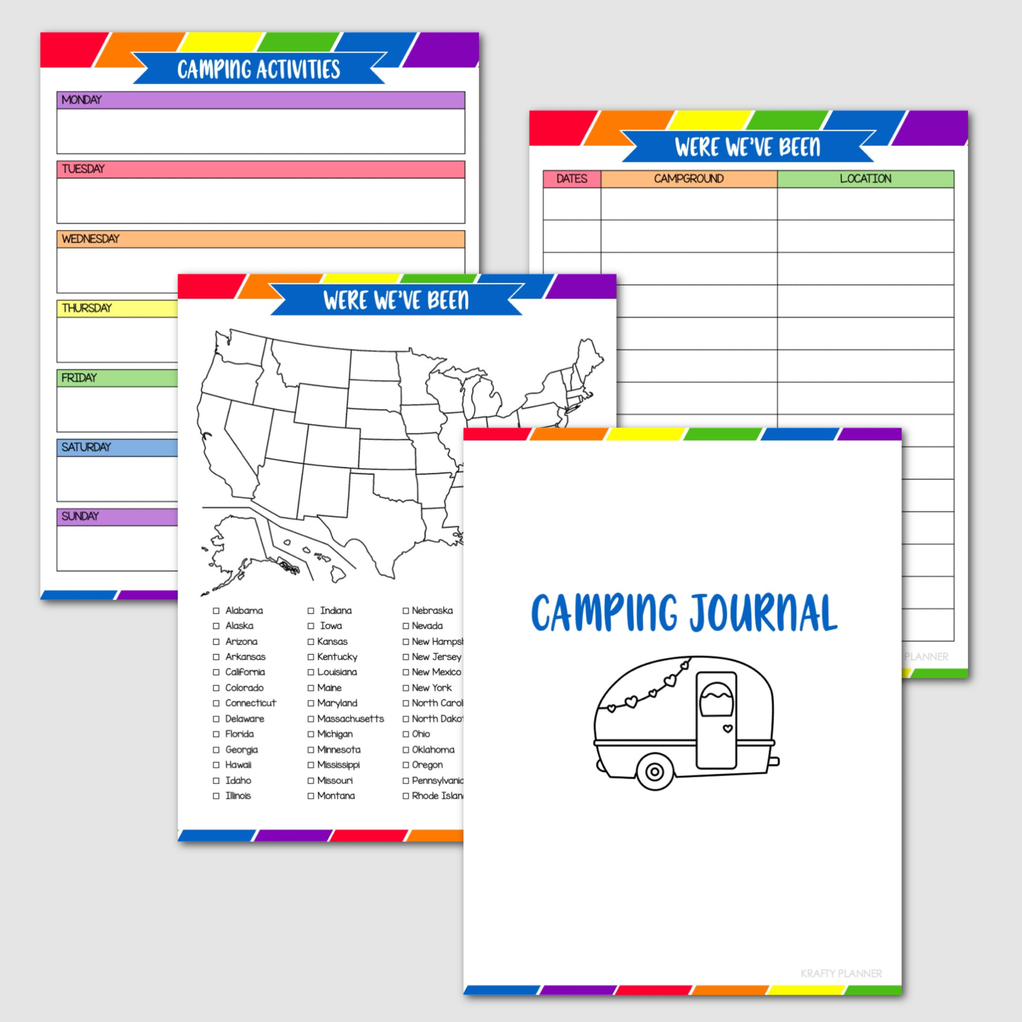 SUMMER FUN BINDER Camping Journal and Where we've been