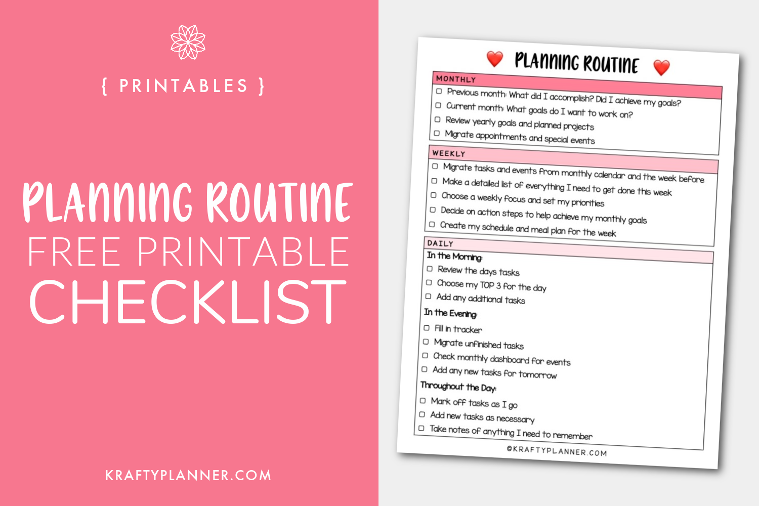 Planning Routine Free Printable Checklist Main Image.png