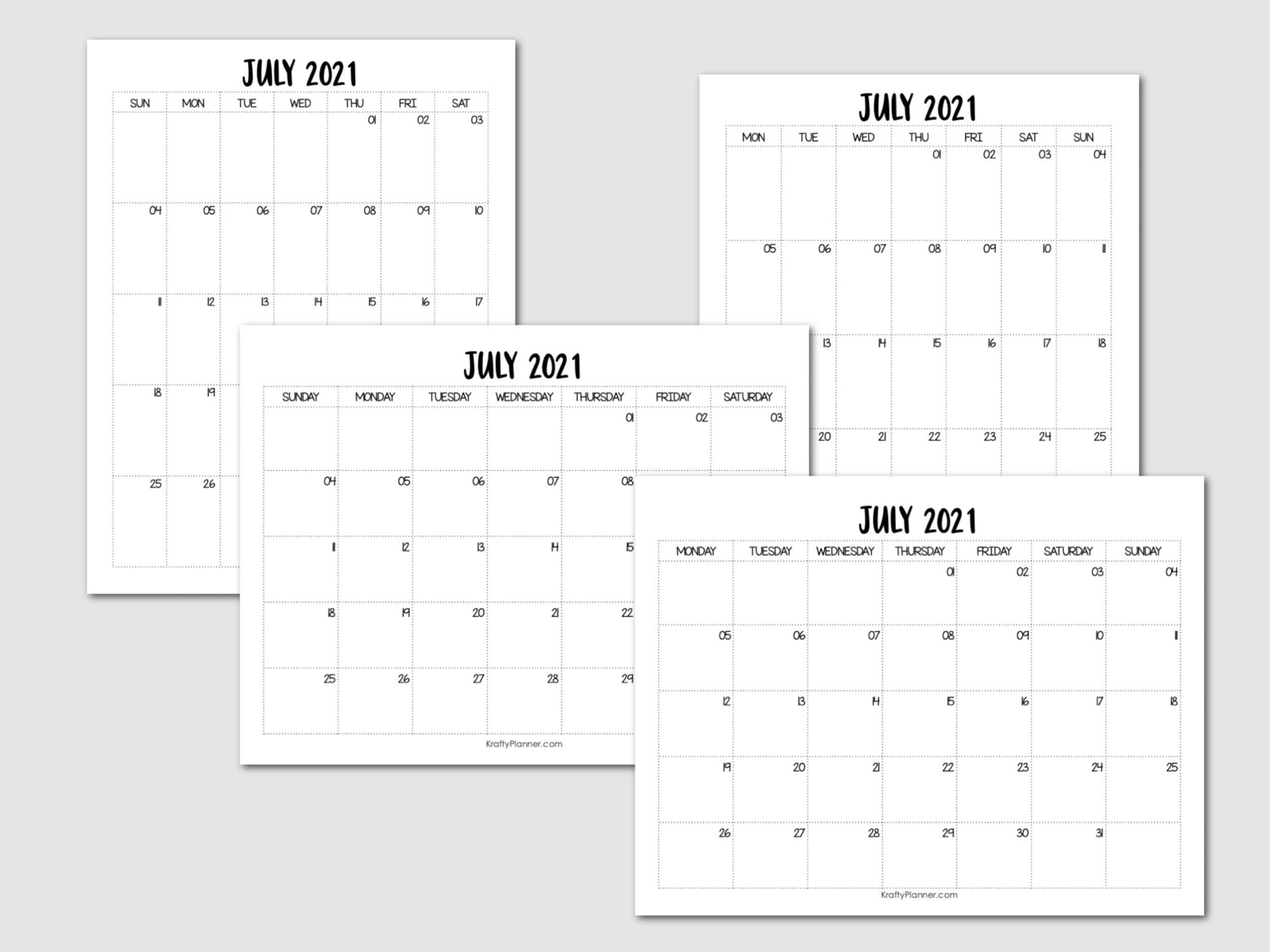 Free Printable July 2021 Calendar Main Image .png
