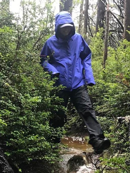 Thanks Mom for the new rain jacket!!!