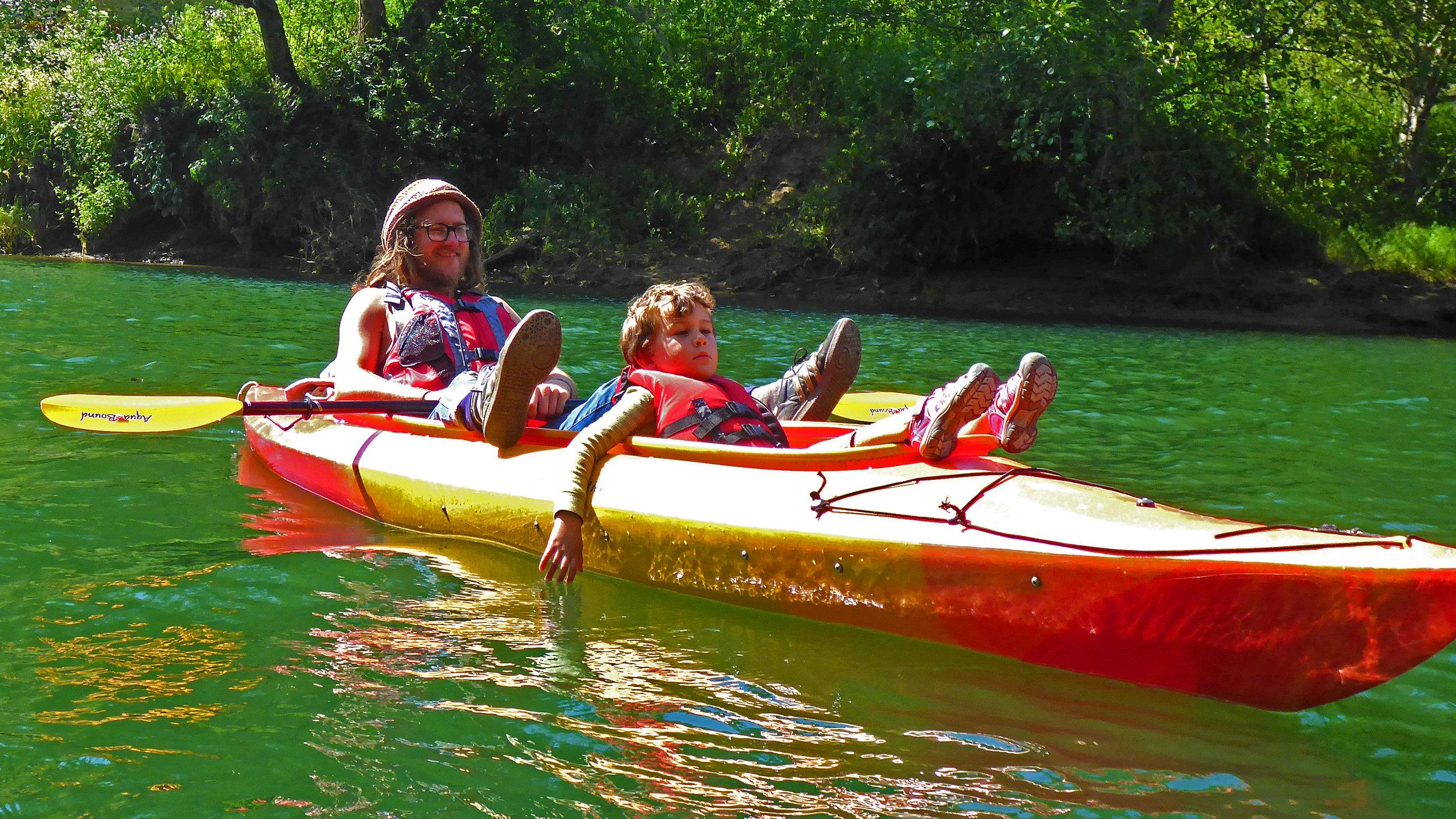 Noyo River Family Kayaking Fun