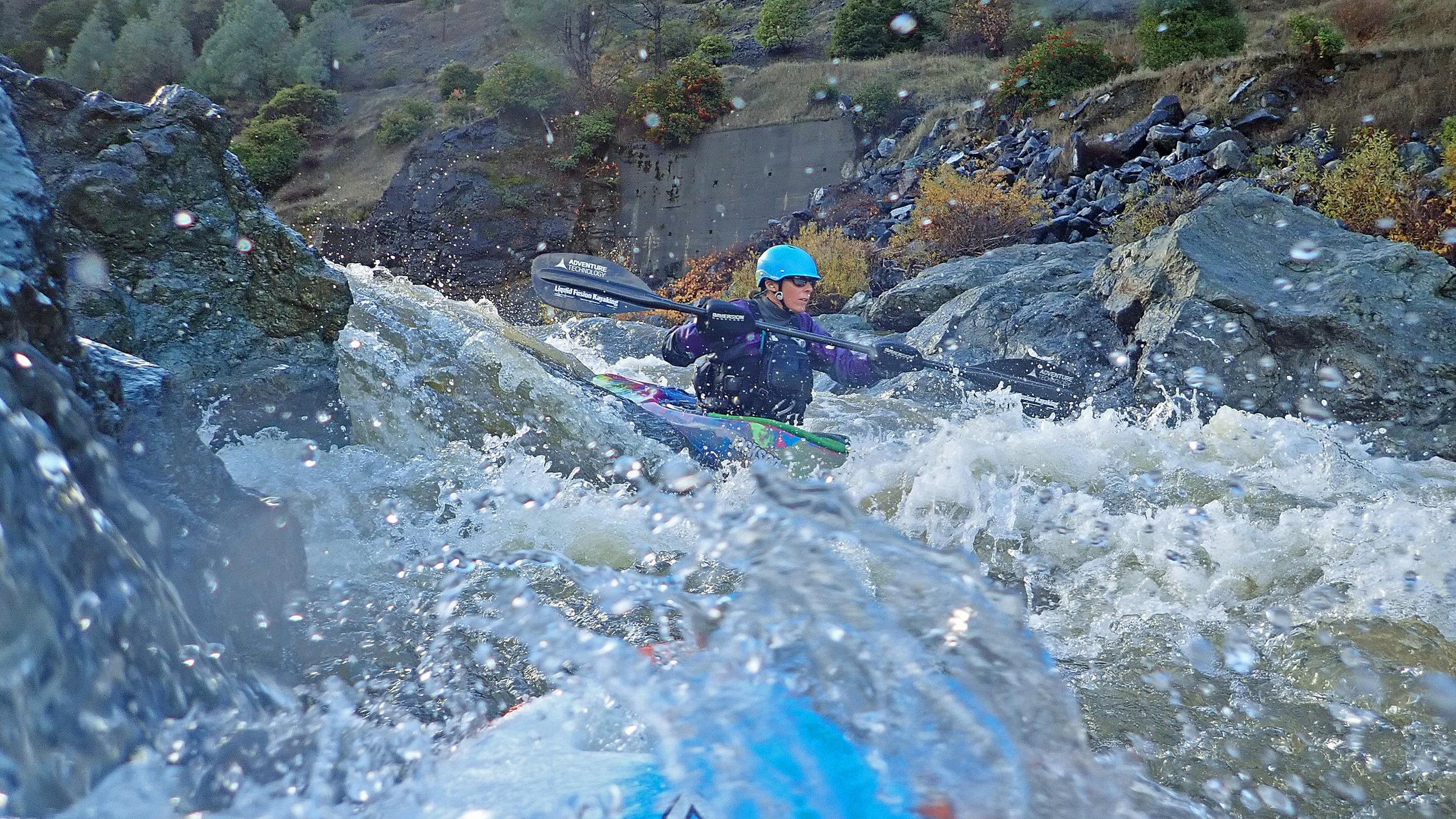 Whitewater kayaking on the Eel River. Photo courtesy of Liquid Fusion Kayaking.
