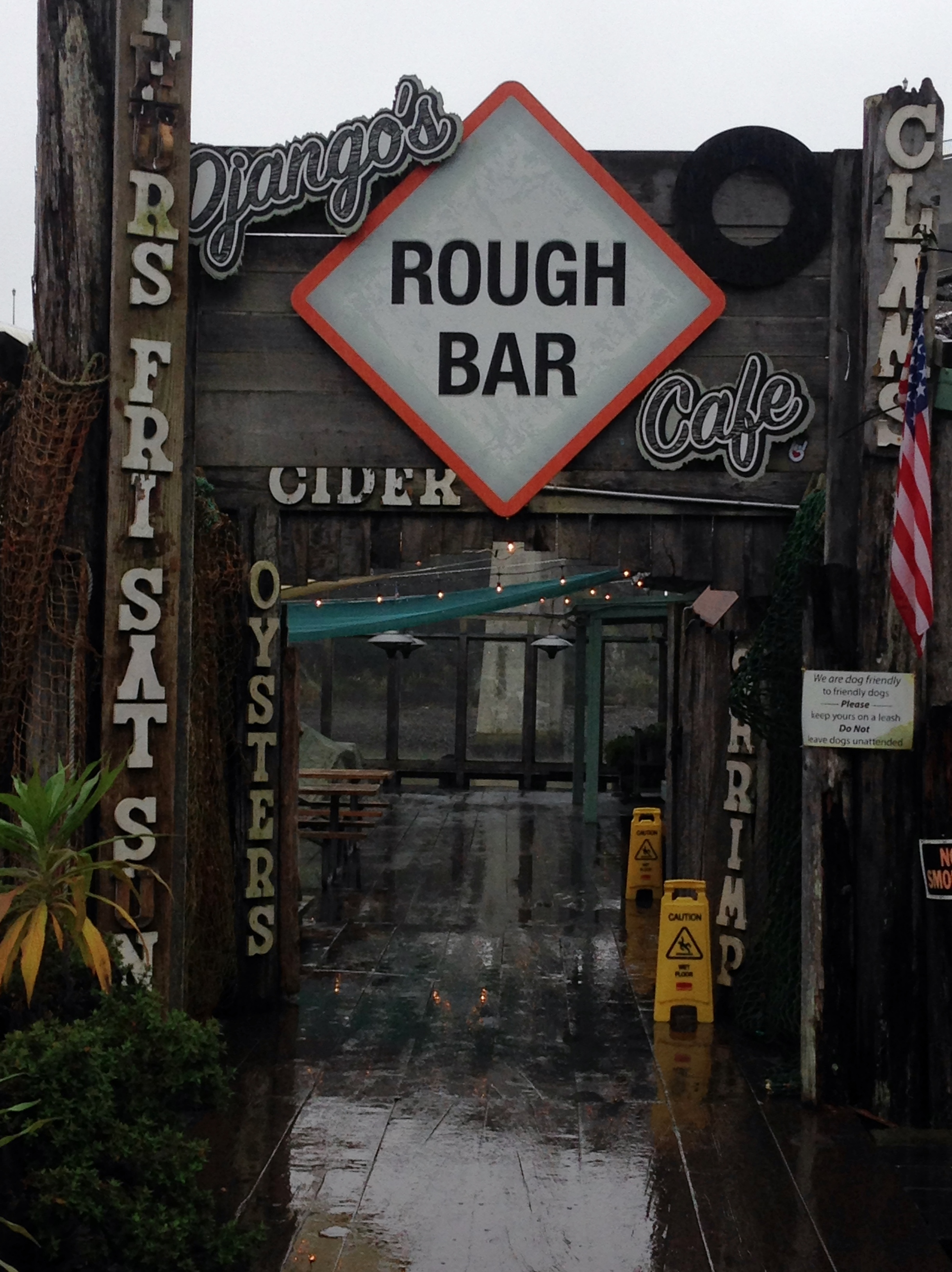 Django's Rough Bar is a great spot for fish and chips and a fresh beer.