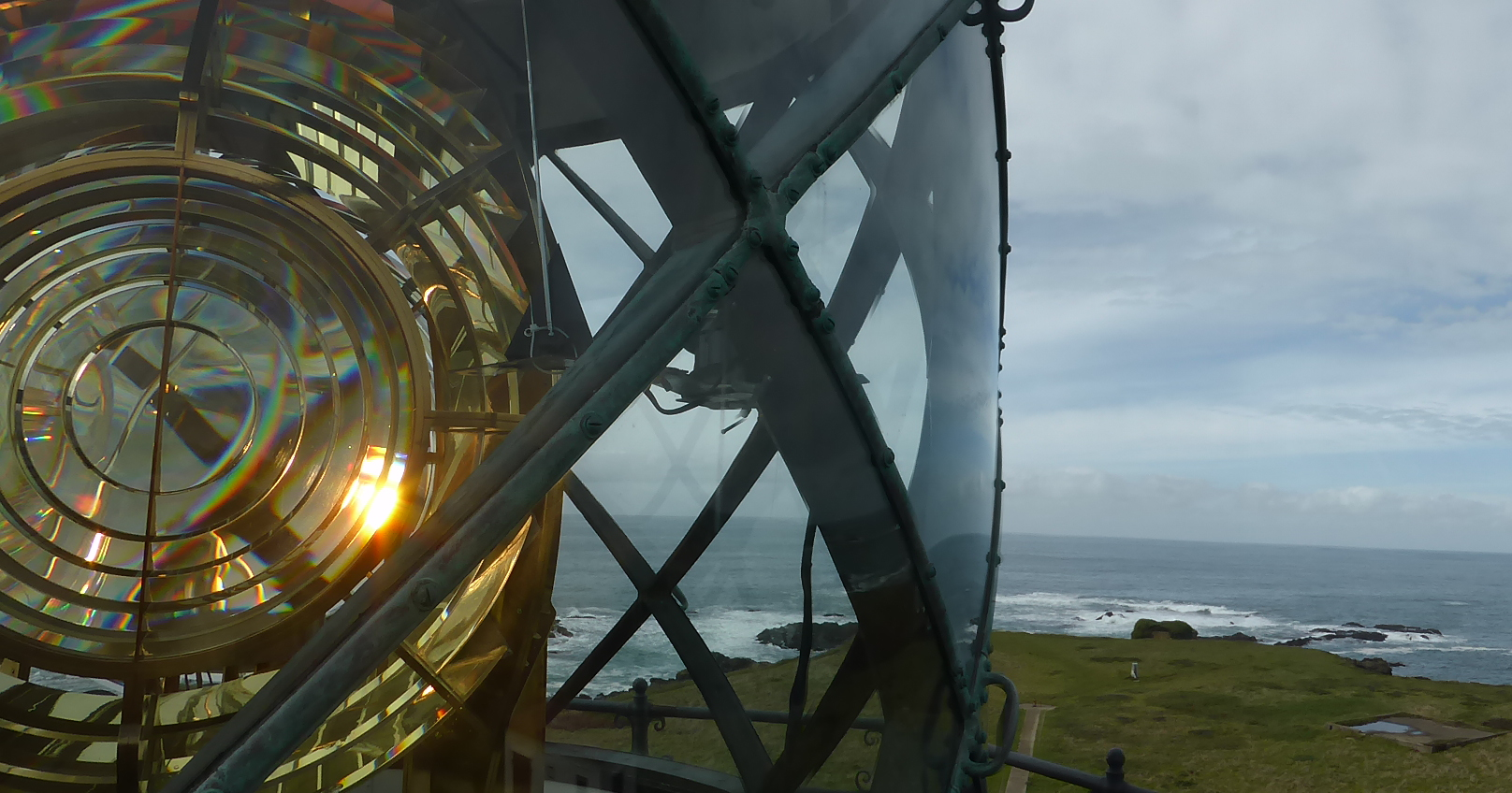 View from the top of the Point Cabrillo Lighthouse.