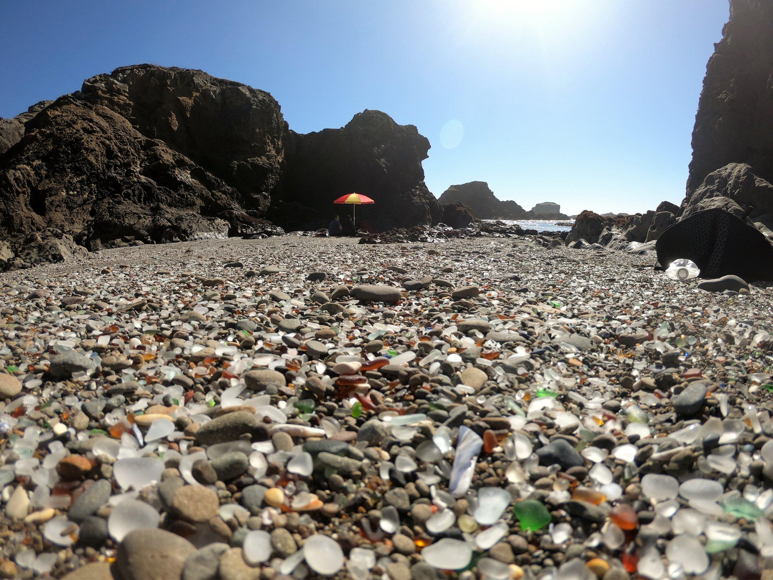 Sea glass at Glass Beach. Photo 3/15/2019