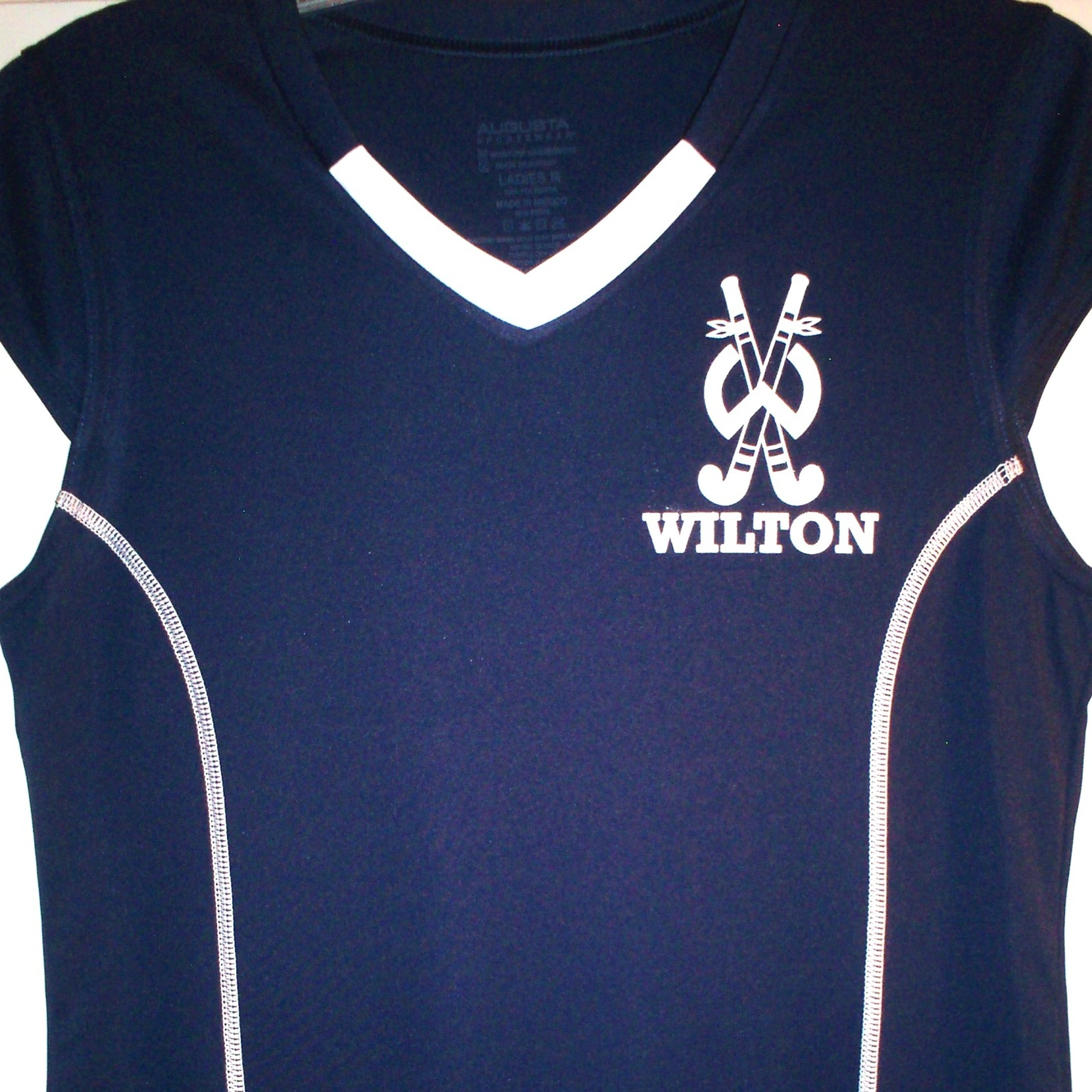 Wilton Youth Field Hockey Jersey. Available in Girls and Ladies sizes. Each jersey comes with the player's name and number printed on the back!