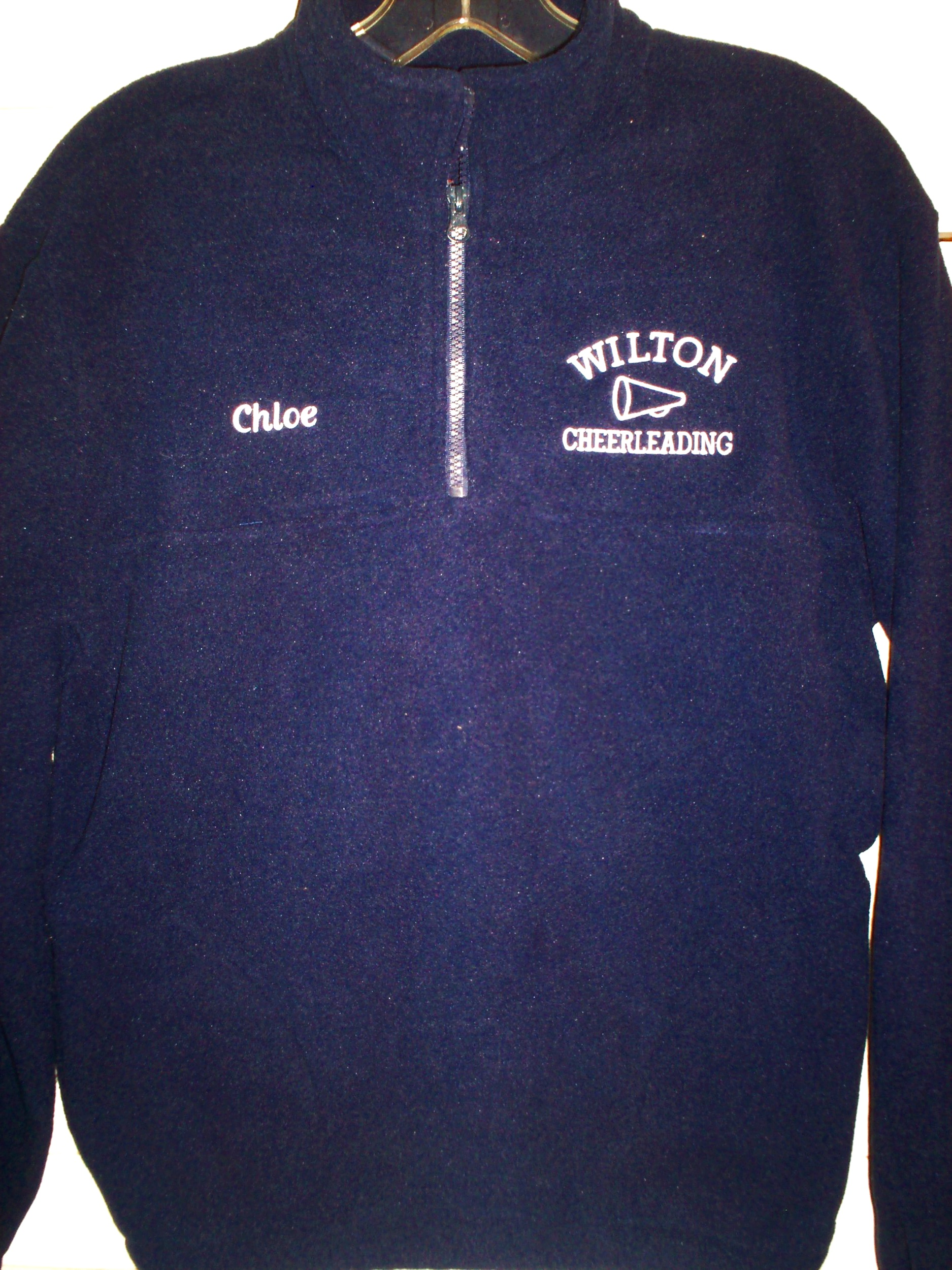 Our Wilton Youth Cheer Fleeces are super comfortable, and come with the players name custom-embroidered on the front. Order yours today!
