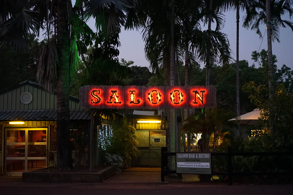 Saloon Bar - Relax after a day of exploring in the licensed air-conditioned guest Saloon Bar or enjoy a cold beer in the palm shaded beer garden.