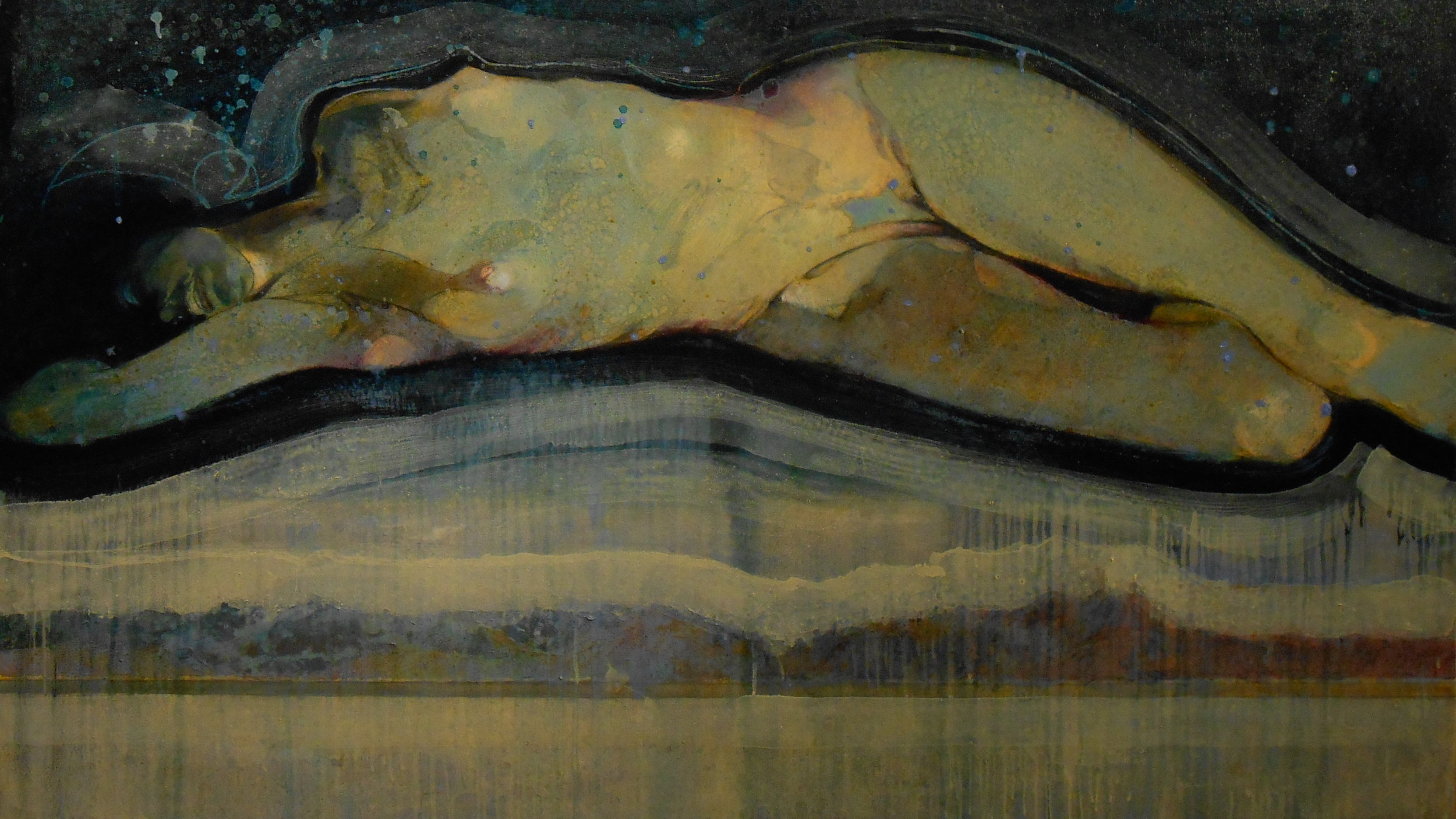 Paint 13. Discovery Bay, Puget Sound Series_Oil on Canvas_ Mar 30 2016_36x60.JPG