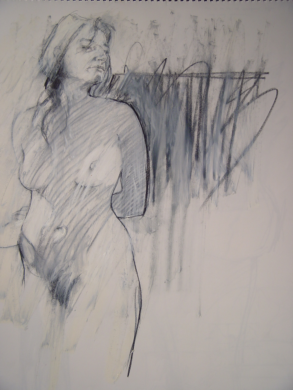 """Charcoal on Paper 2006 24"""" x 18"""""""