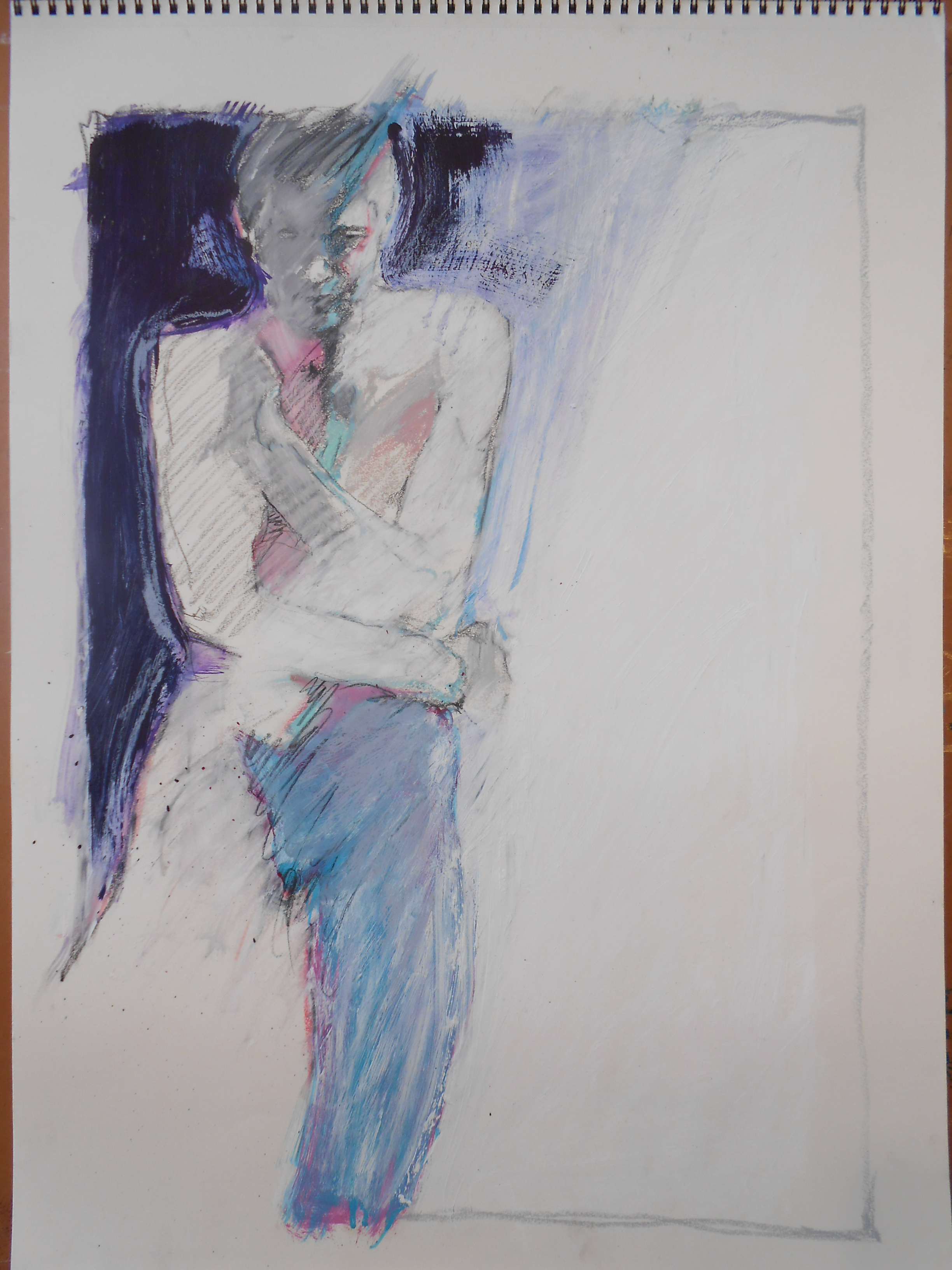 """Charcoal/ Pastel on Paper 2014 24"""" x 18"""""""