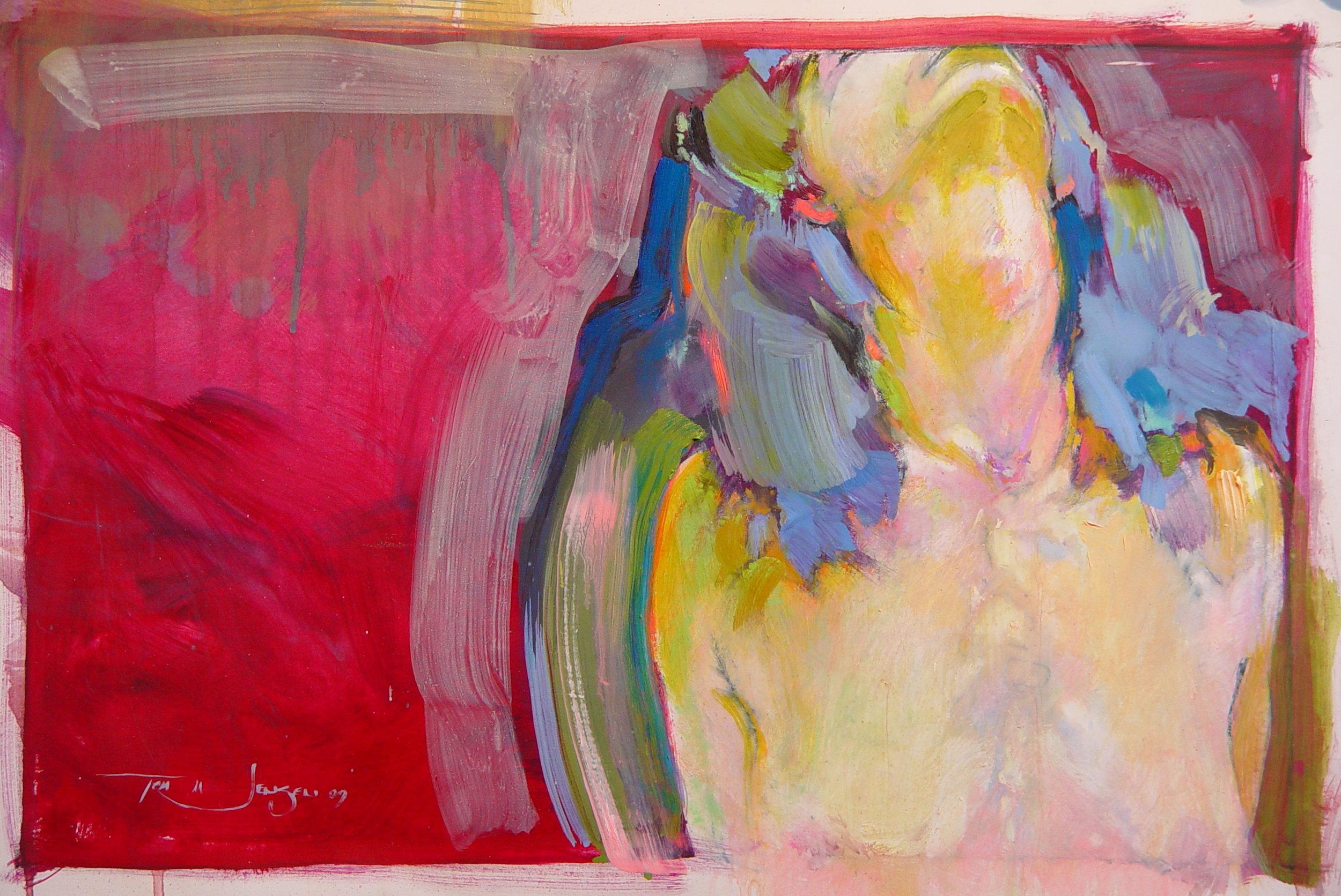 "Paint on Paper 2009 18"" x 24"""