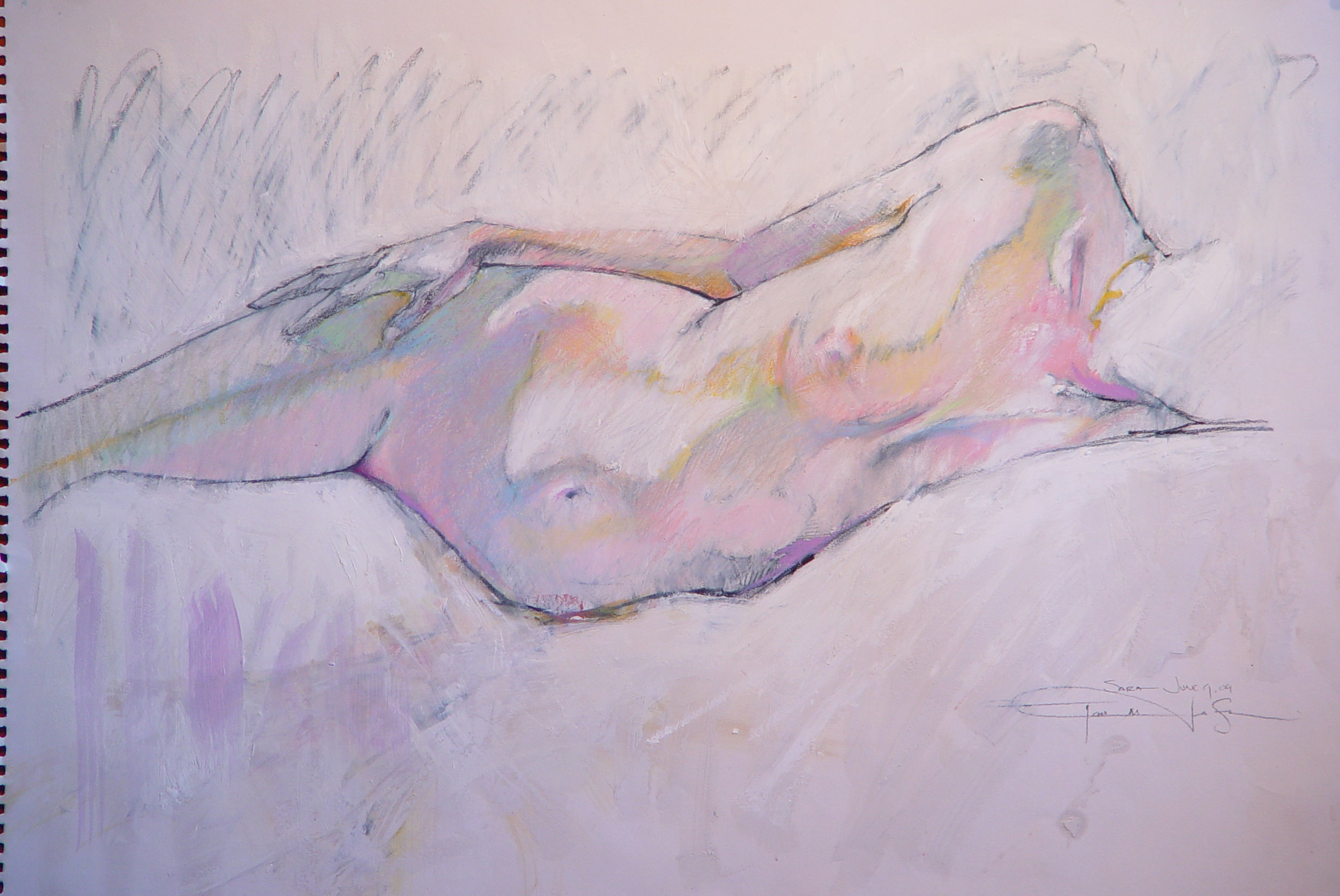 """Charcoal/ Pastel on Paper 2009 18"""" x 24"""""""