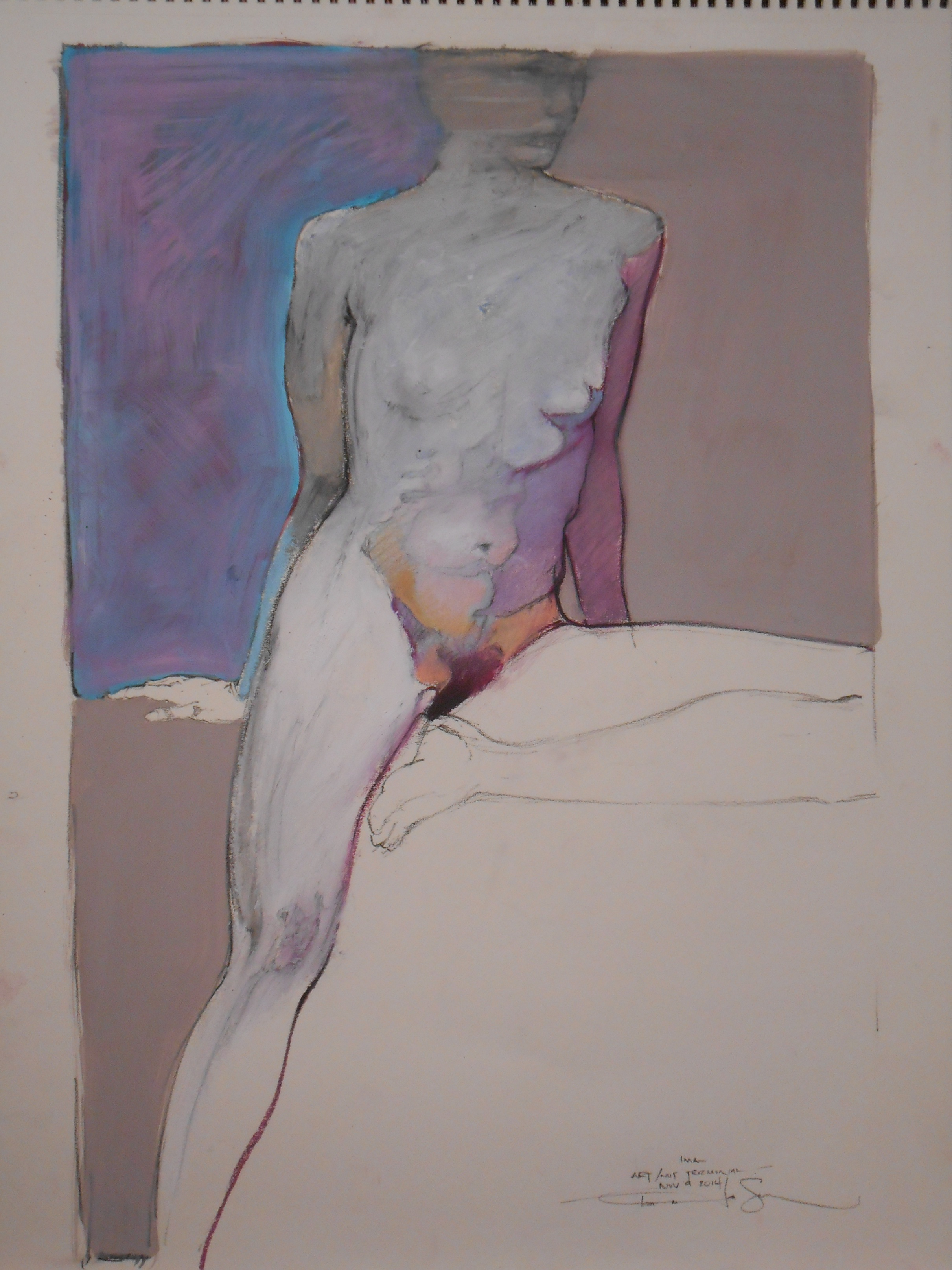 """Charcoal/ Pastel on Paper 2006 24"""" x 18"""""""
