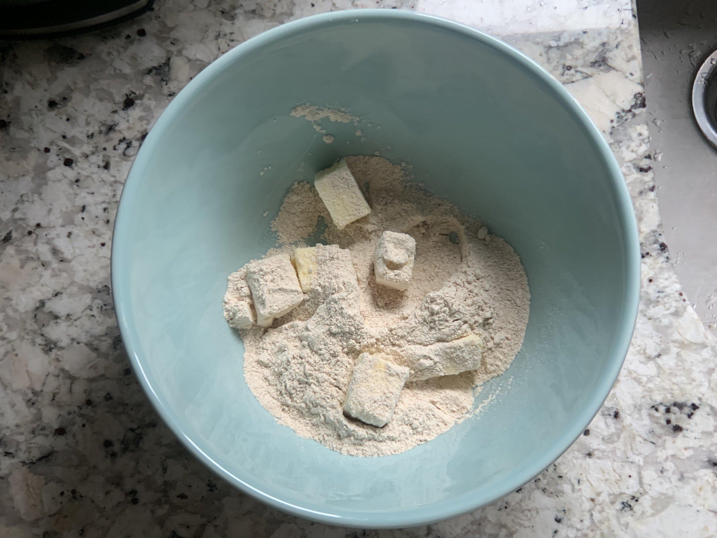 6 Tbsp butter + 3/4 cup flour